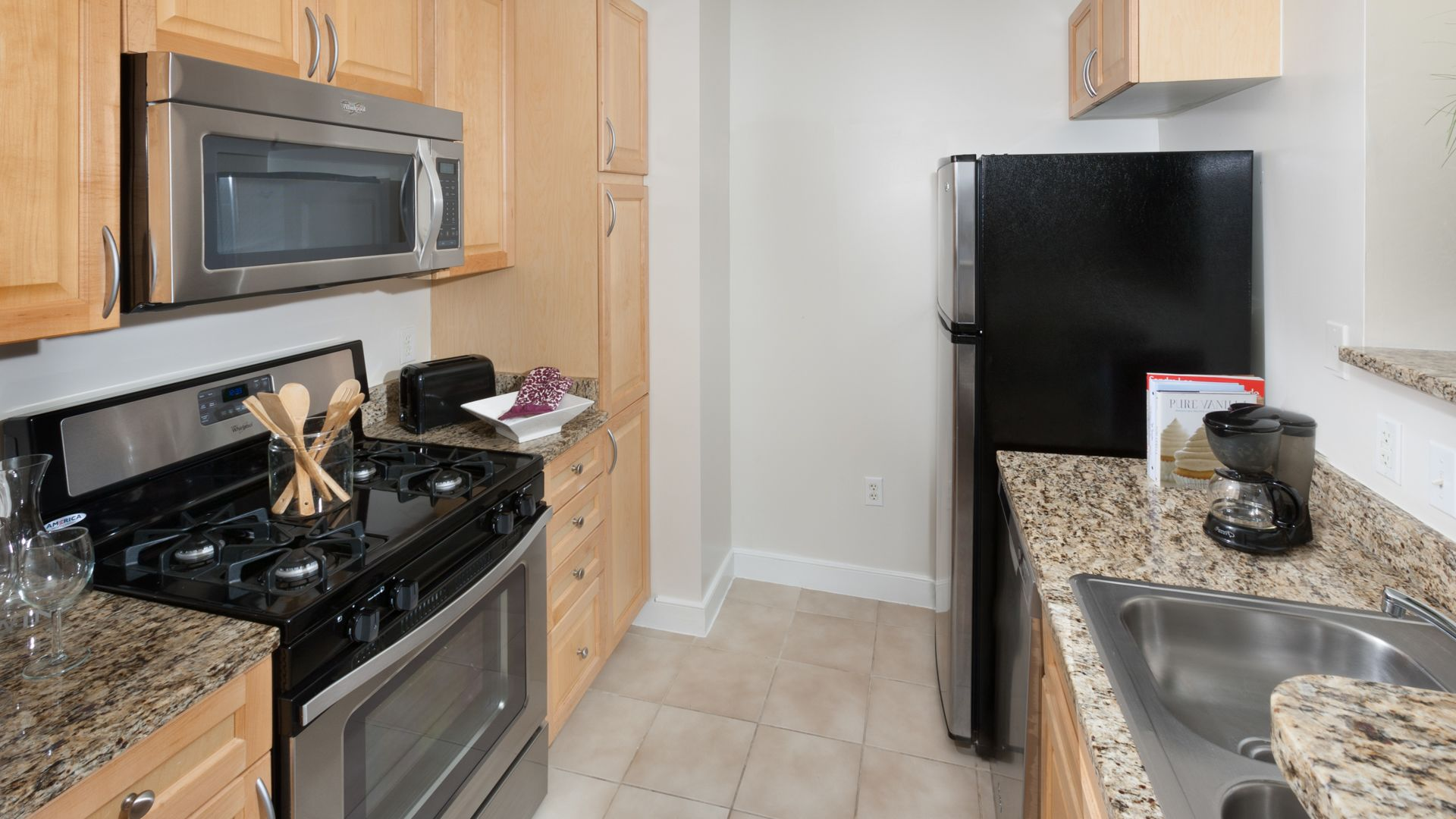 1210 Mass Apartments - Kitchen