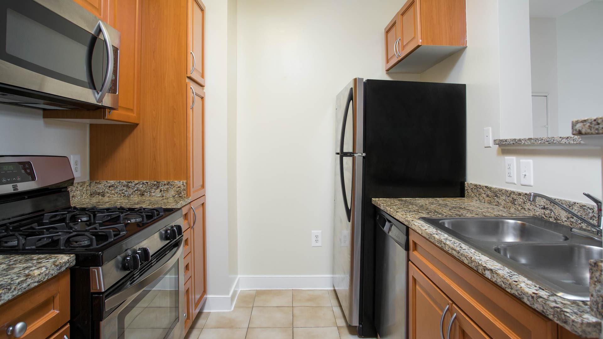 1210 Mass Apartments - Kitchen