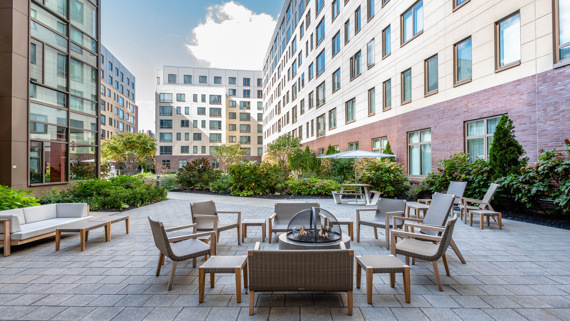 Third Square Apartments - Courtyard