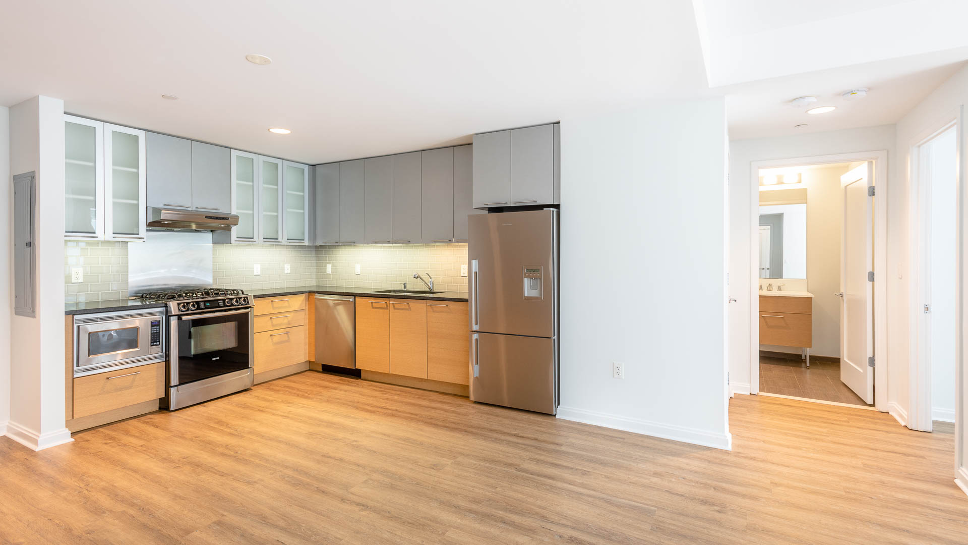 Third Square Apartments - Kitchen and Dining Area