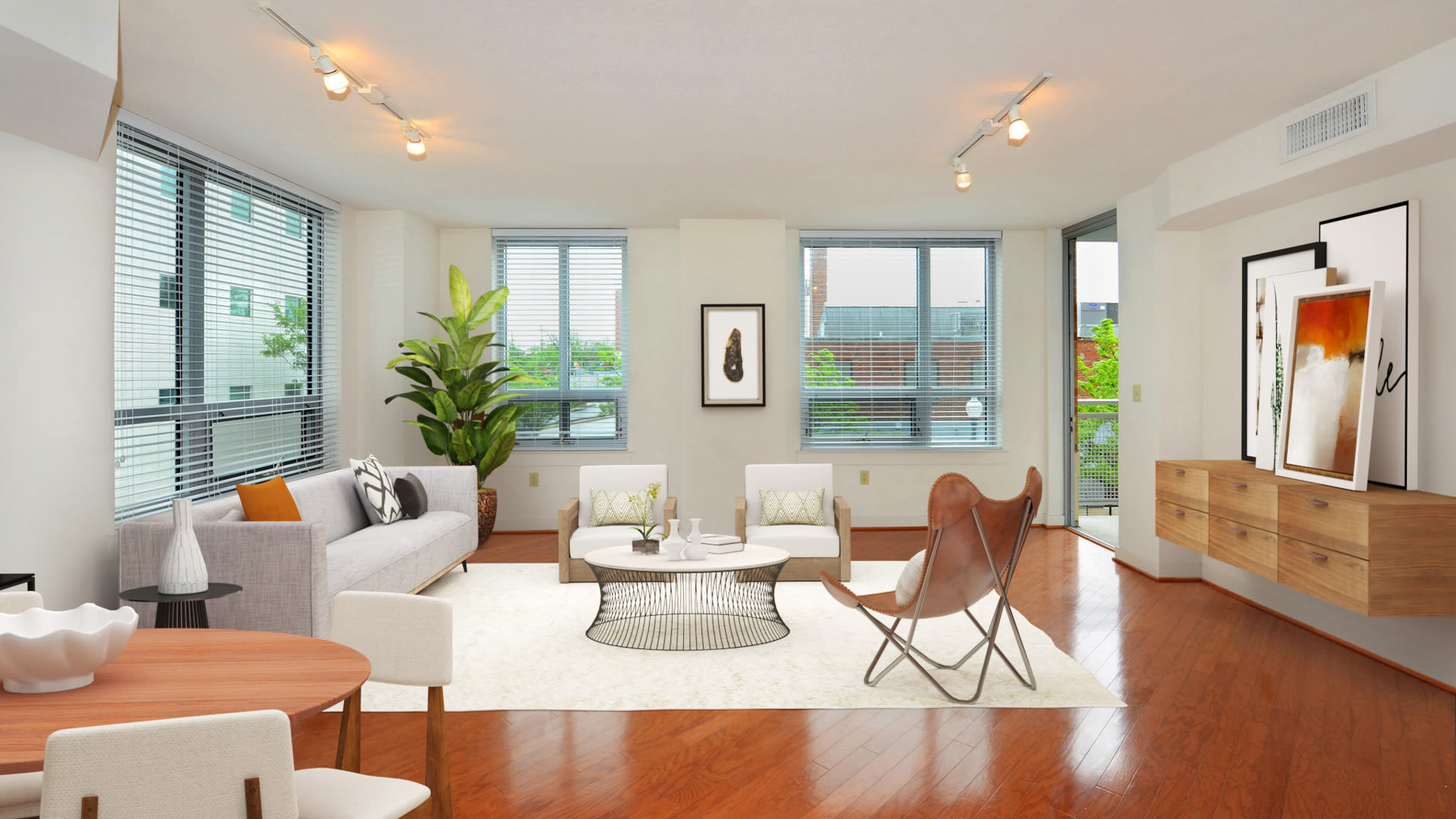 The Veridian Apartments - Bedroom Living Area