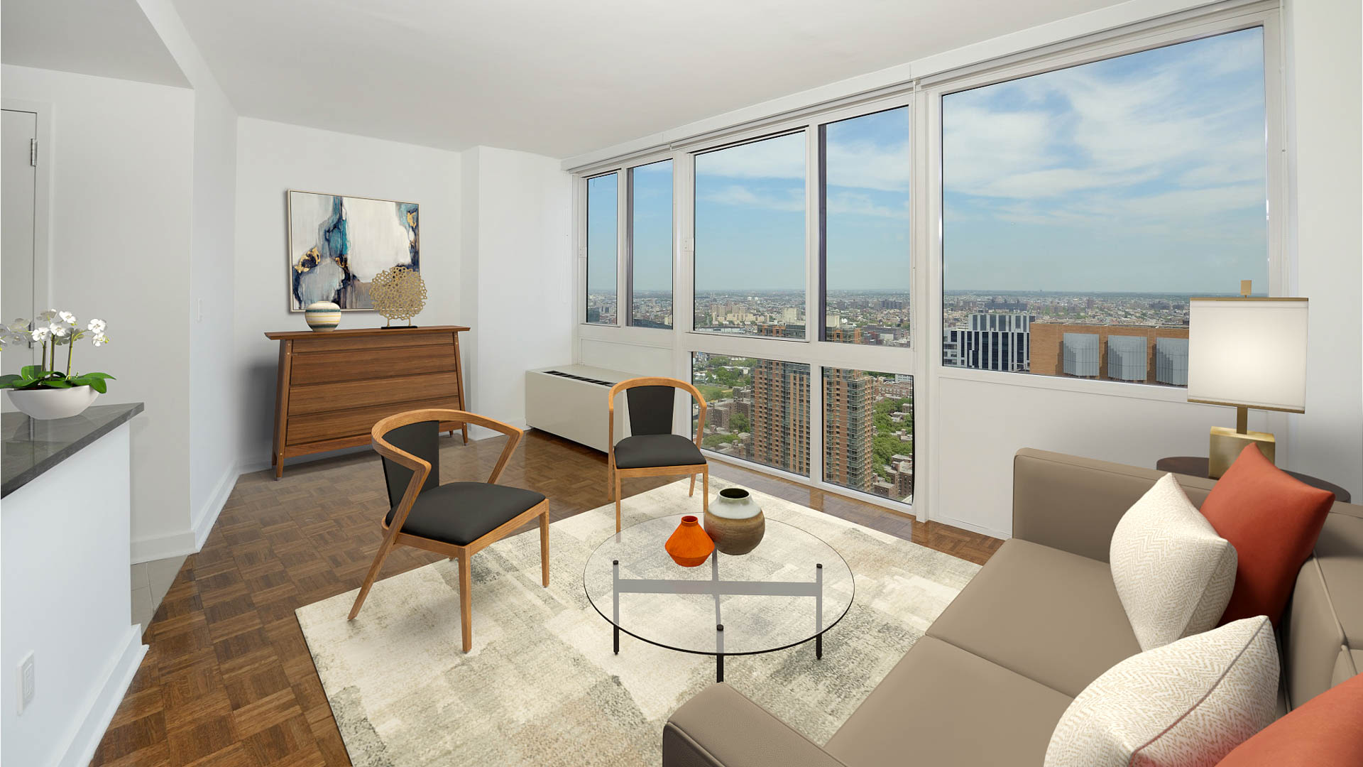 The Brooklyner Apartments - Living Area