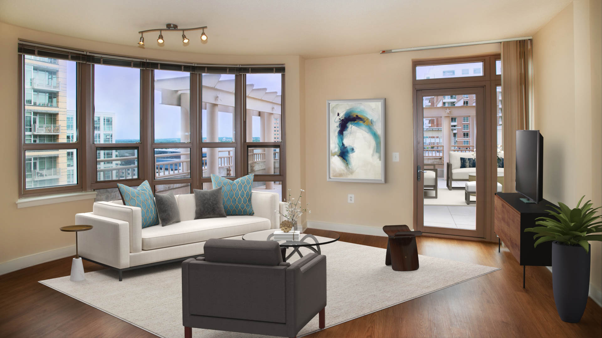 Liberty Tower Apartments - Living Area