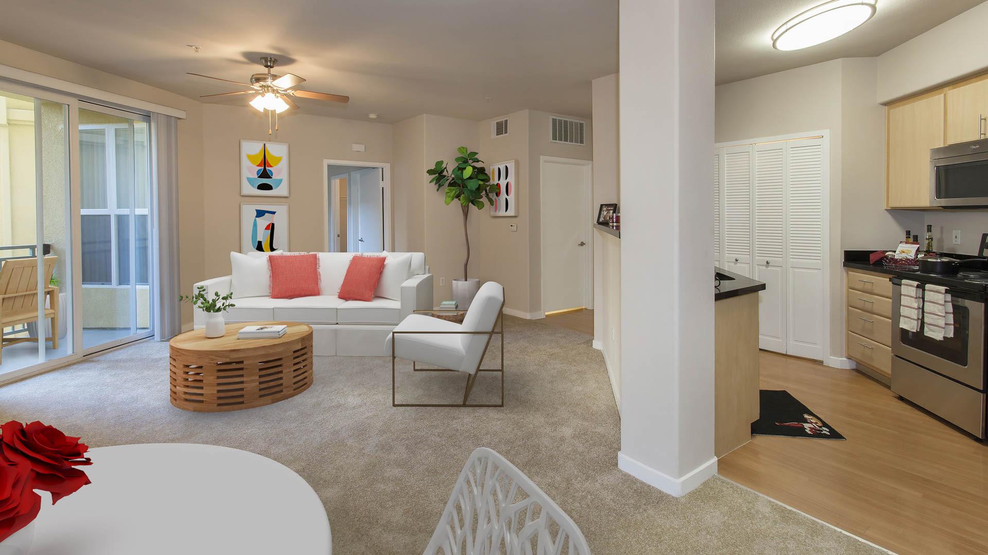Acappella Pasadena Apartments - Living Area