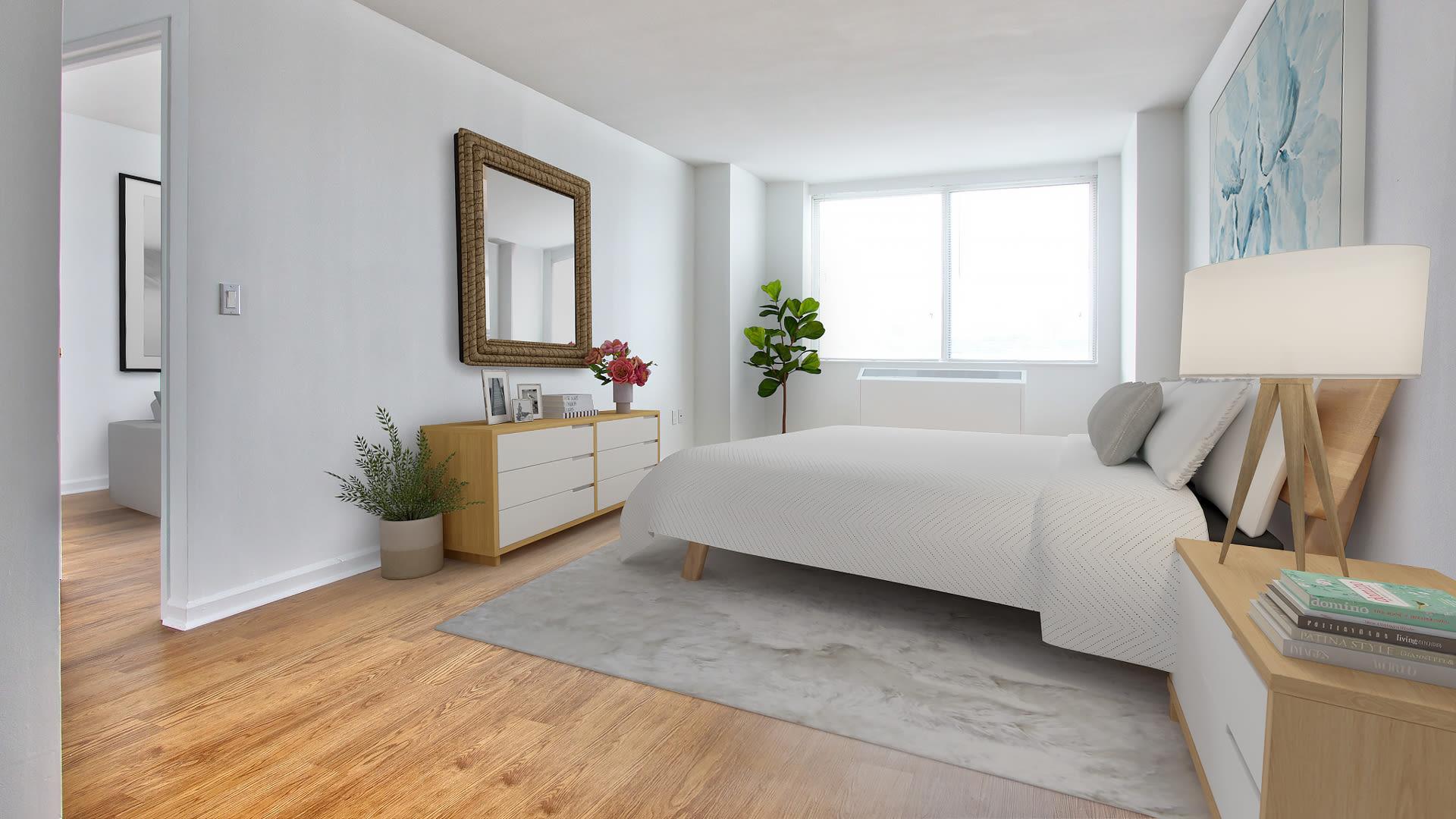180 Riverside Boulevard Apartments - Living Room