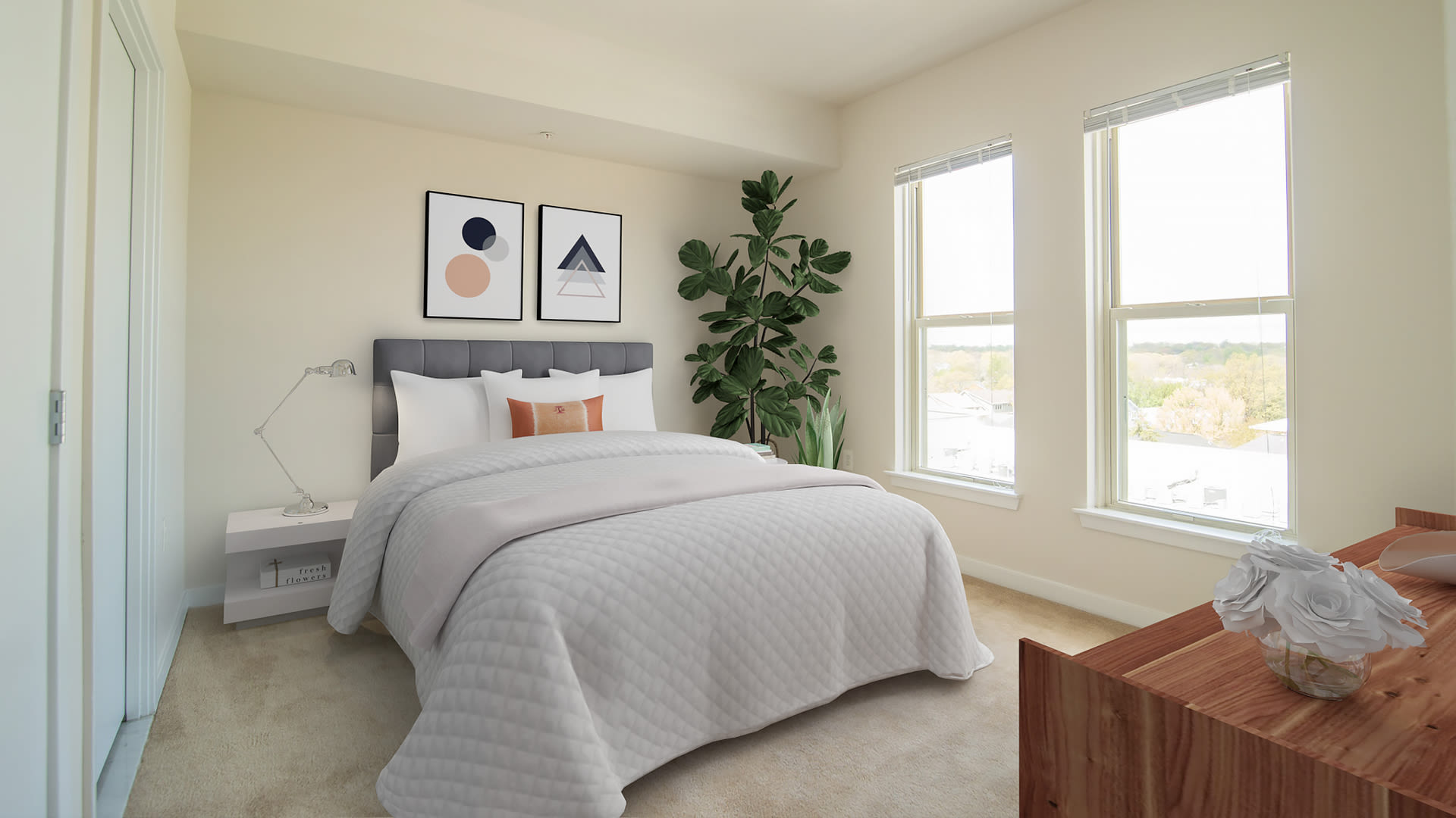 The Clarendon Apartments - Carpeted Bedrooms