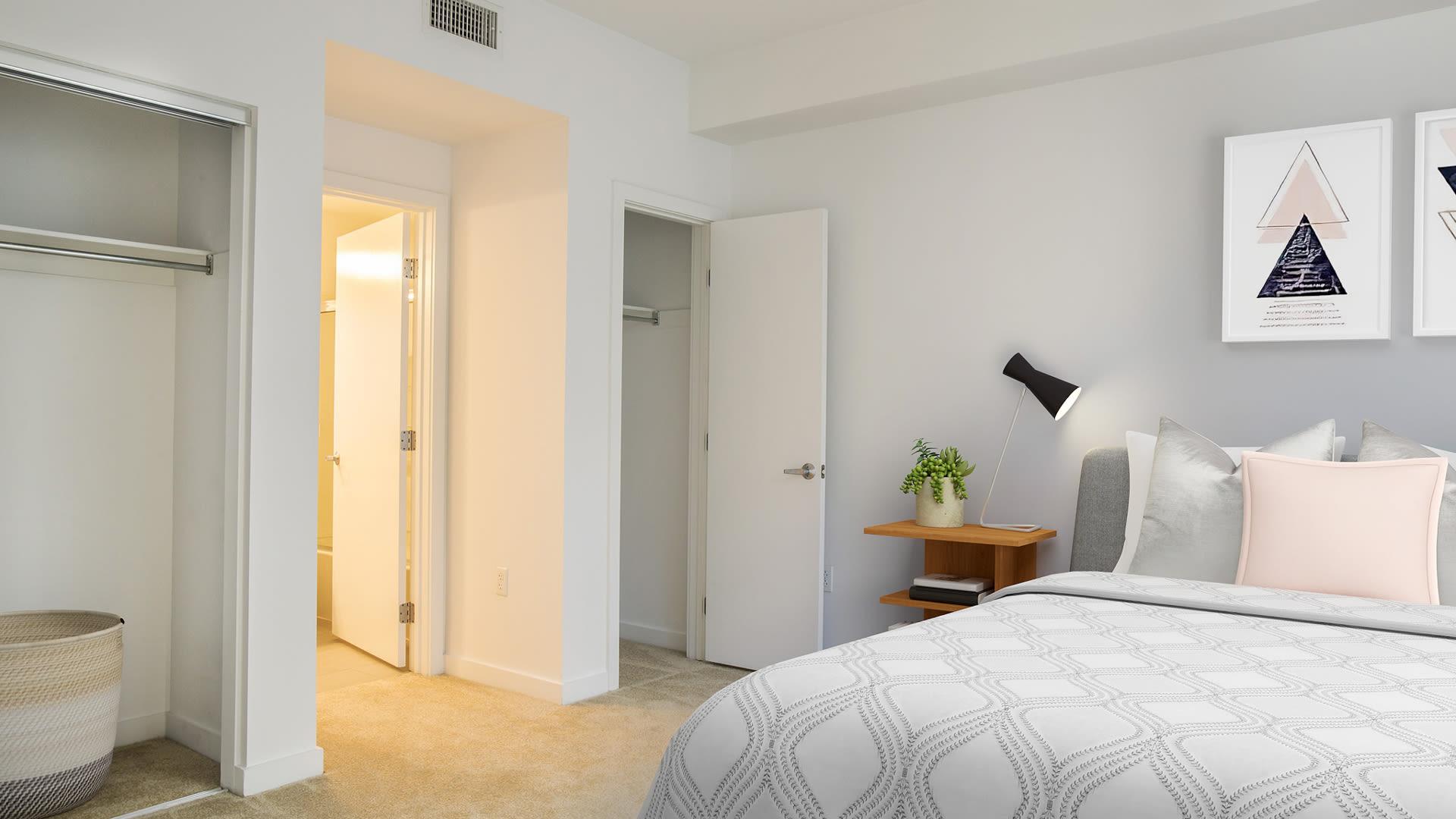 Sakura Crossings Apartments - Bedroom with Walk-In Closet