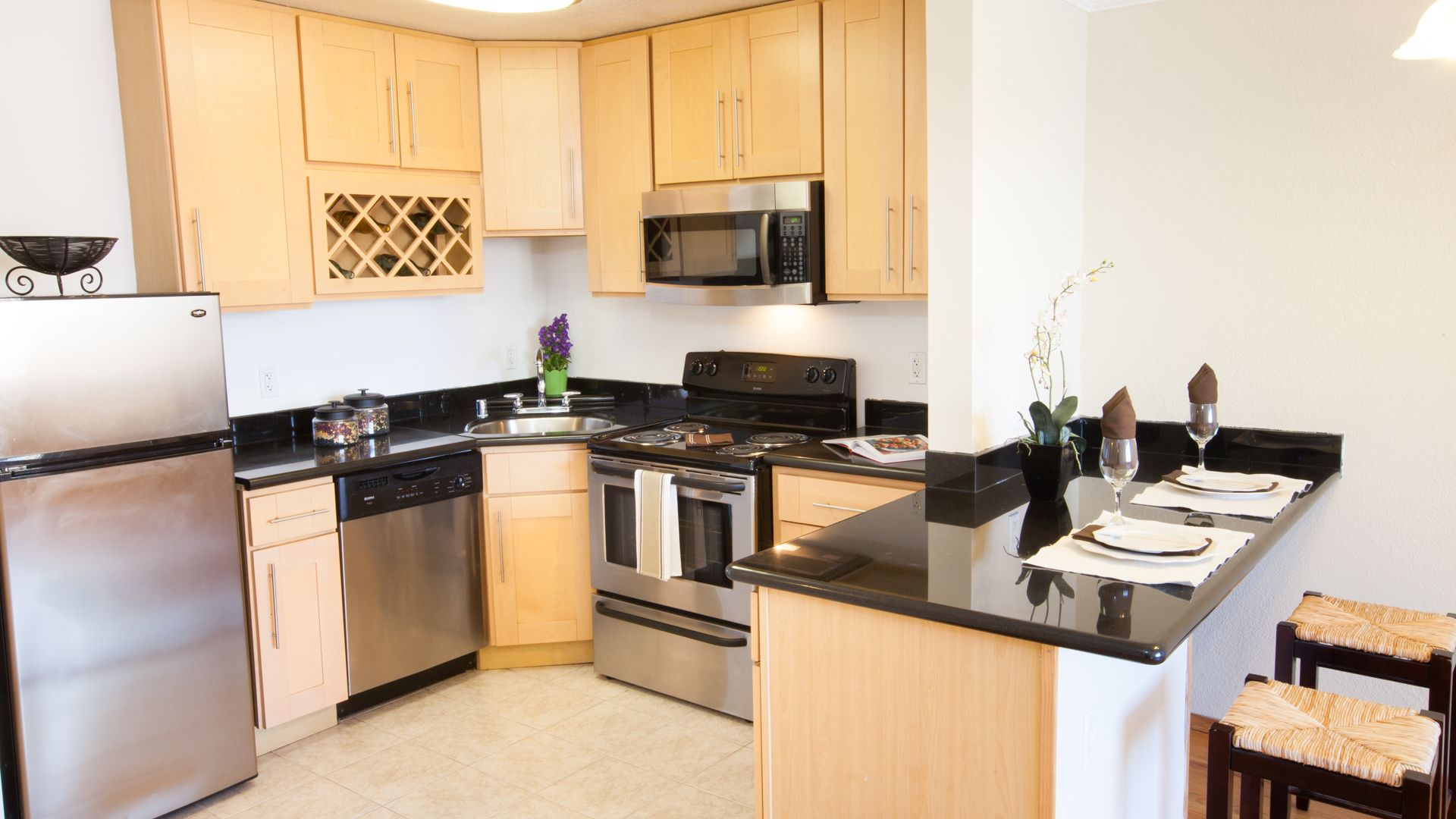 The Terraces Apartments - Kitchen