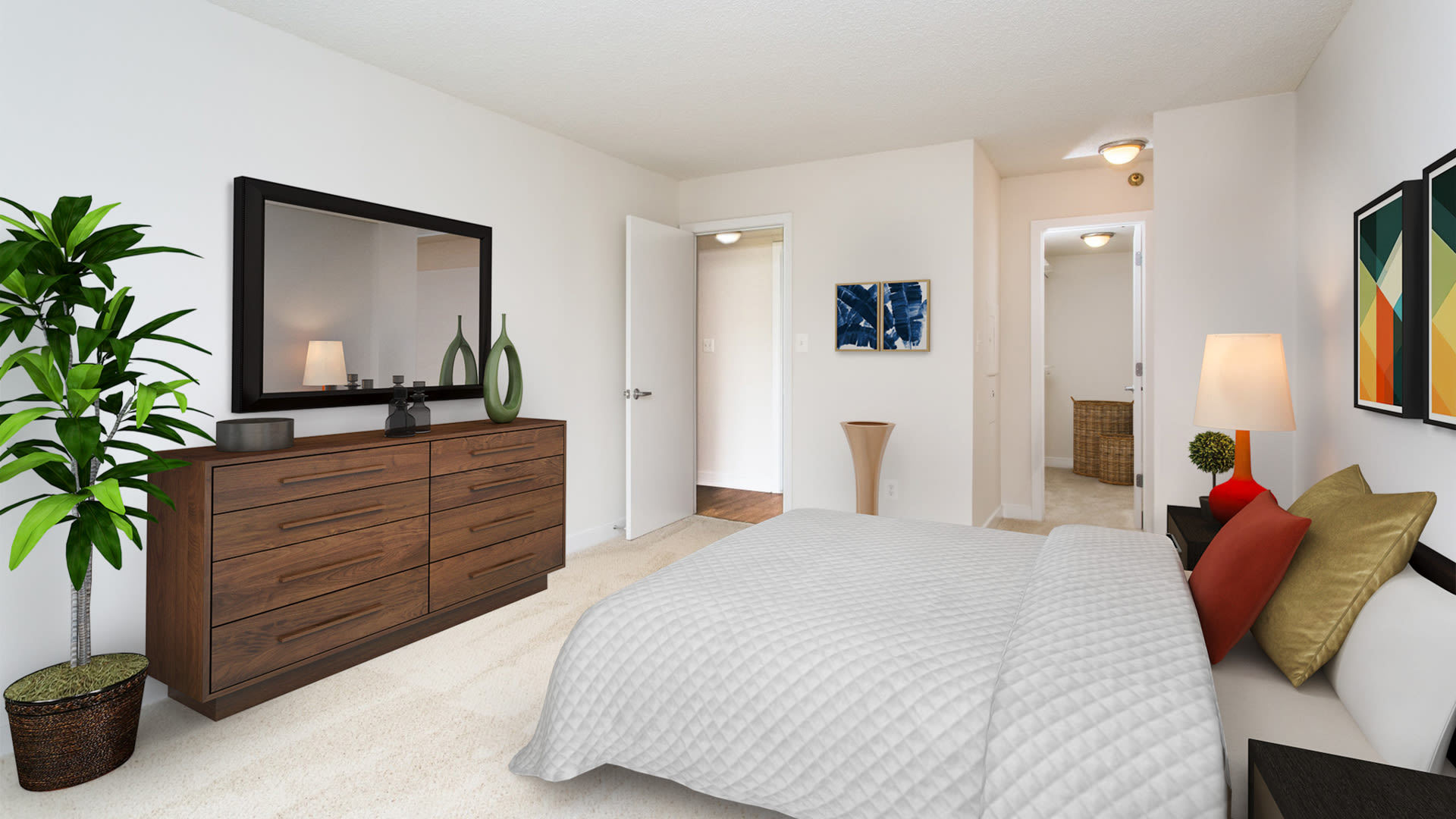 Edgemont at Bethesda Metro Apartments - Carpeted Bedroom with Walk-in Closet