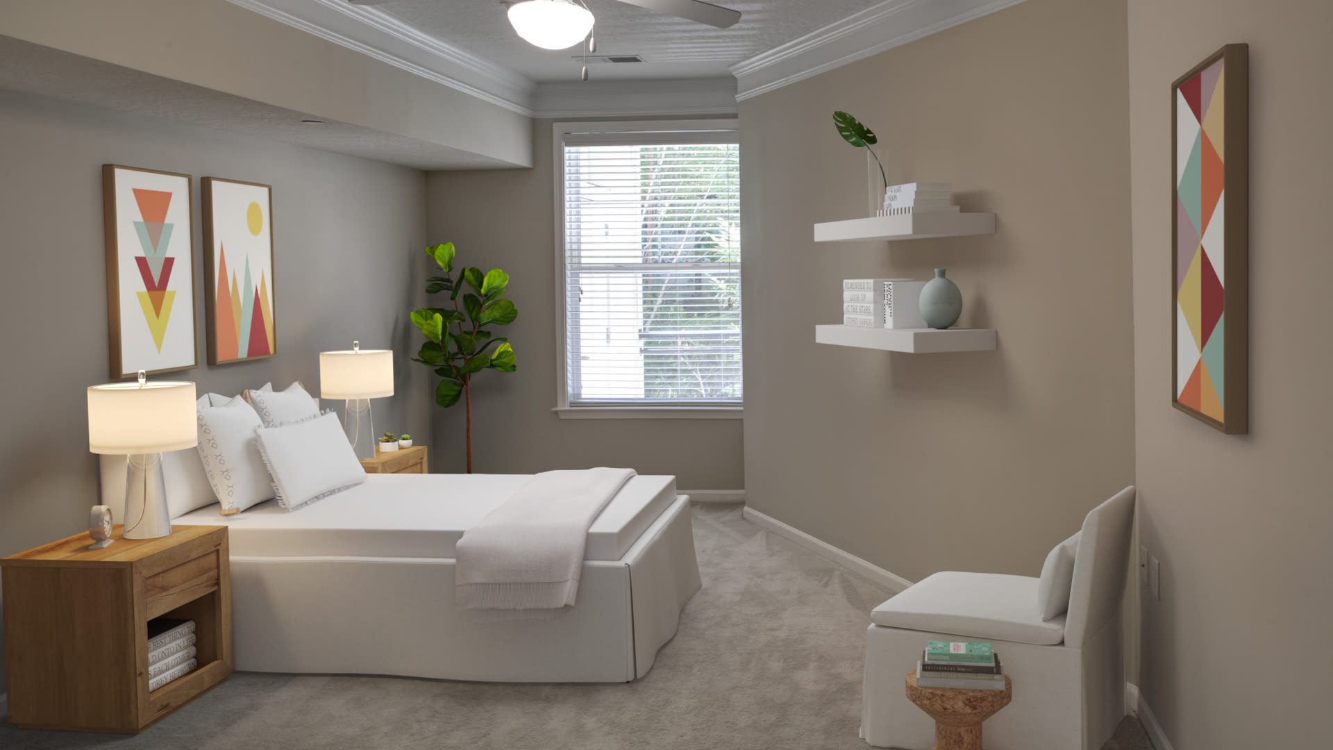 Westchester Rockville Station Apartments - Carpeted Bedroom