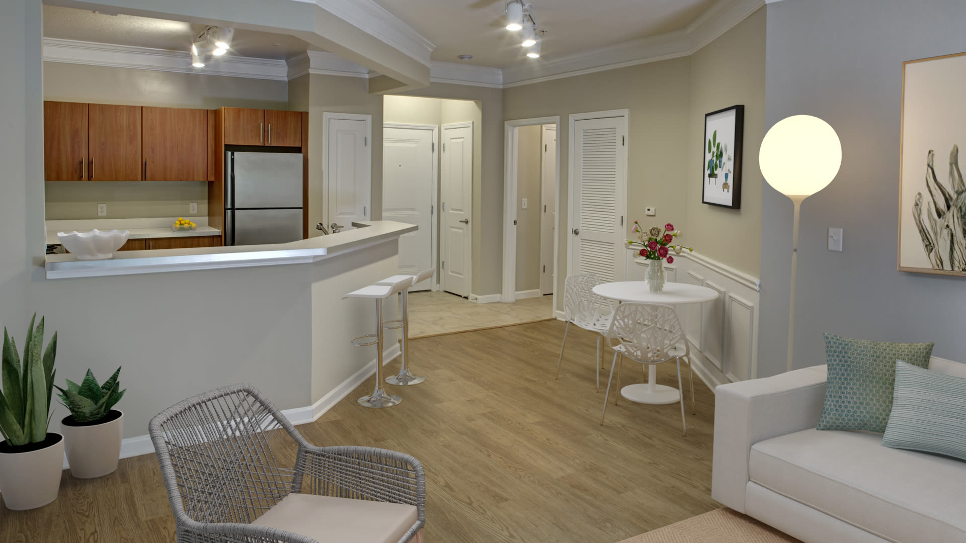 Westchester Rockville Station Apartments - Kitchen and Dining Room with Hard Surface Flooring