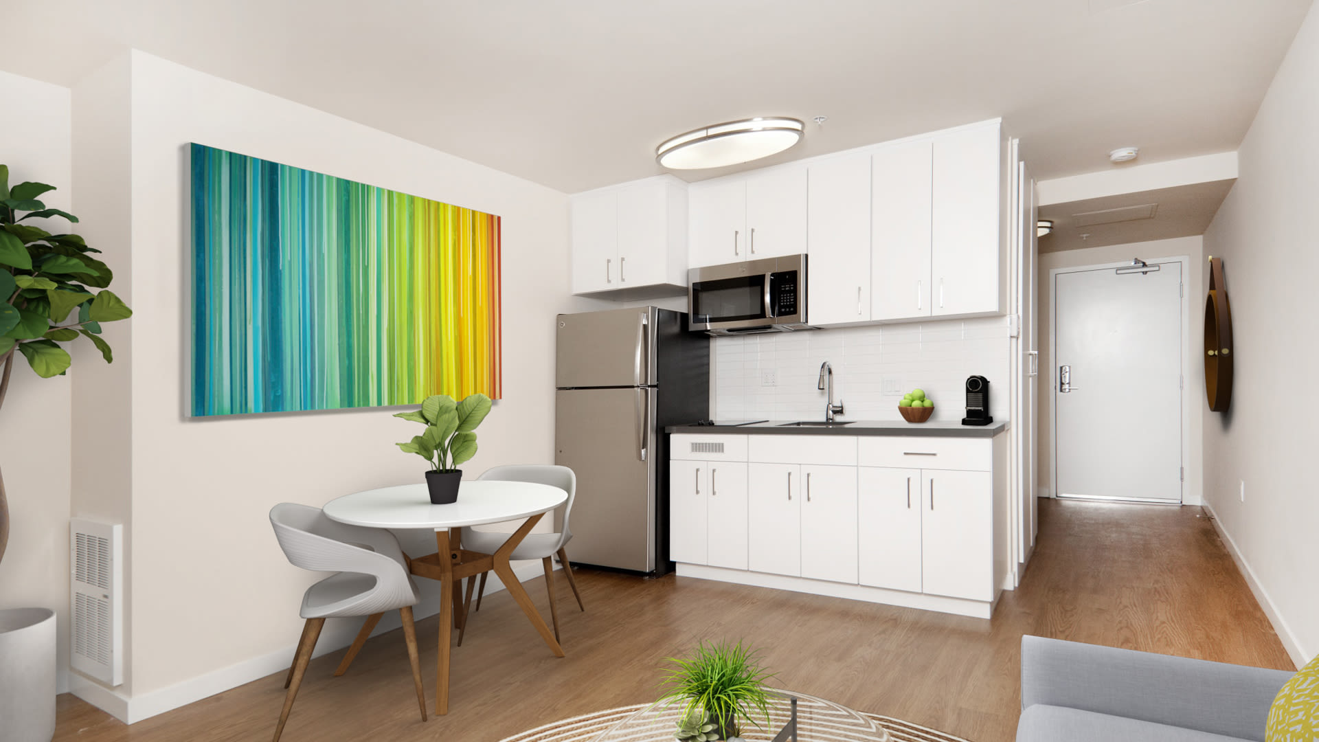 South City Station Apartments - Kitchen with Stainless Steel Appliances