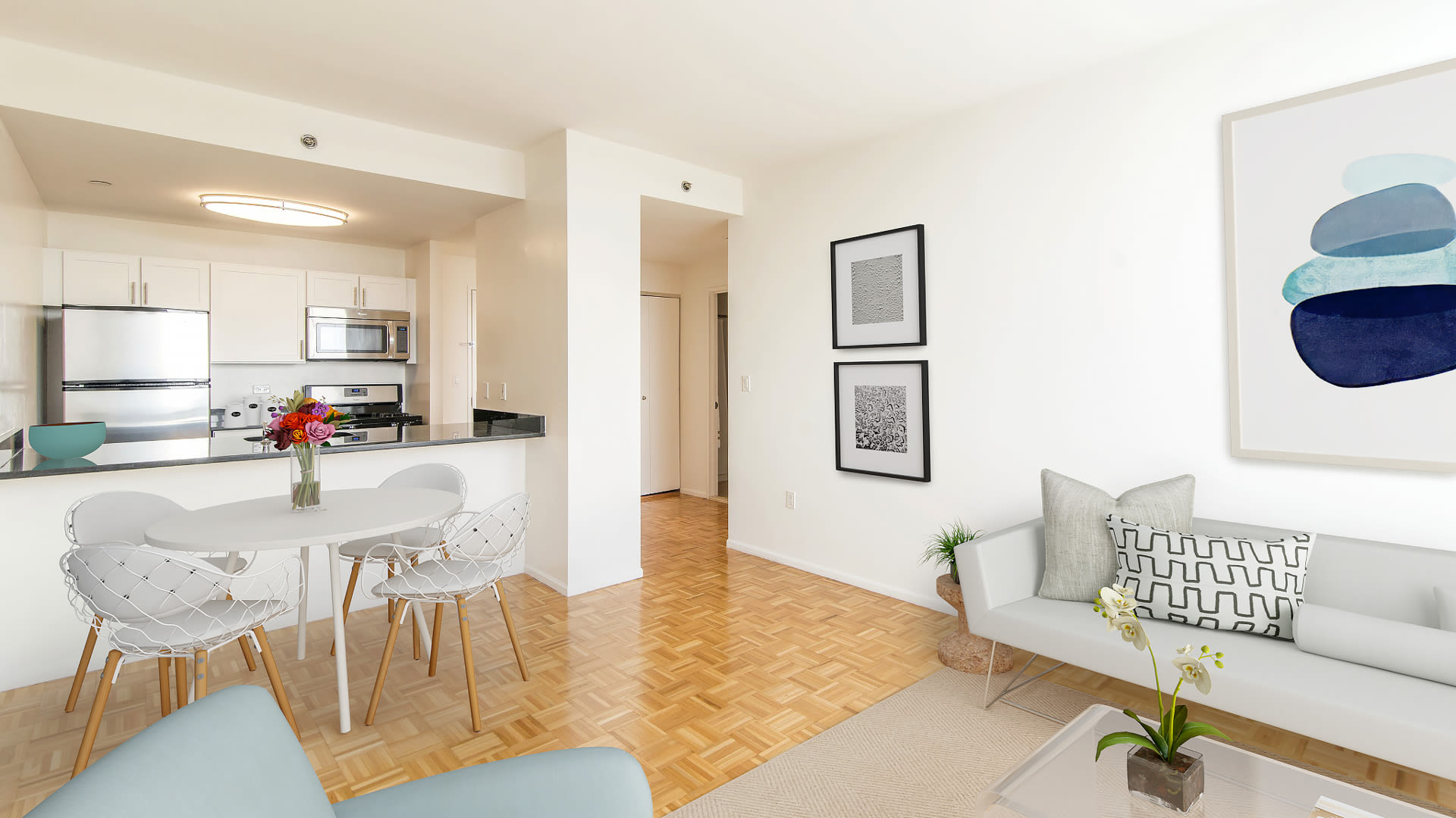180 Montague Apartments - Open Floorplan with Wood Parquet Floor