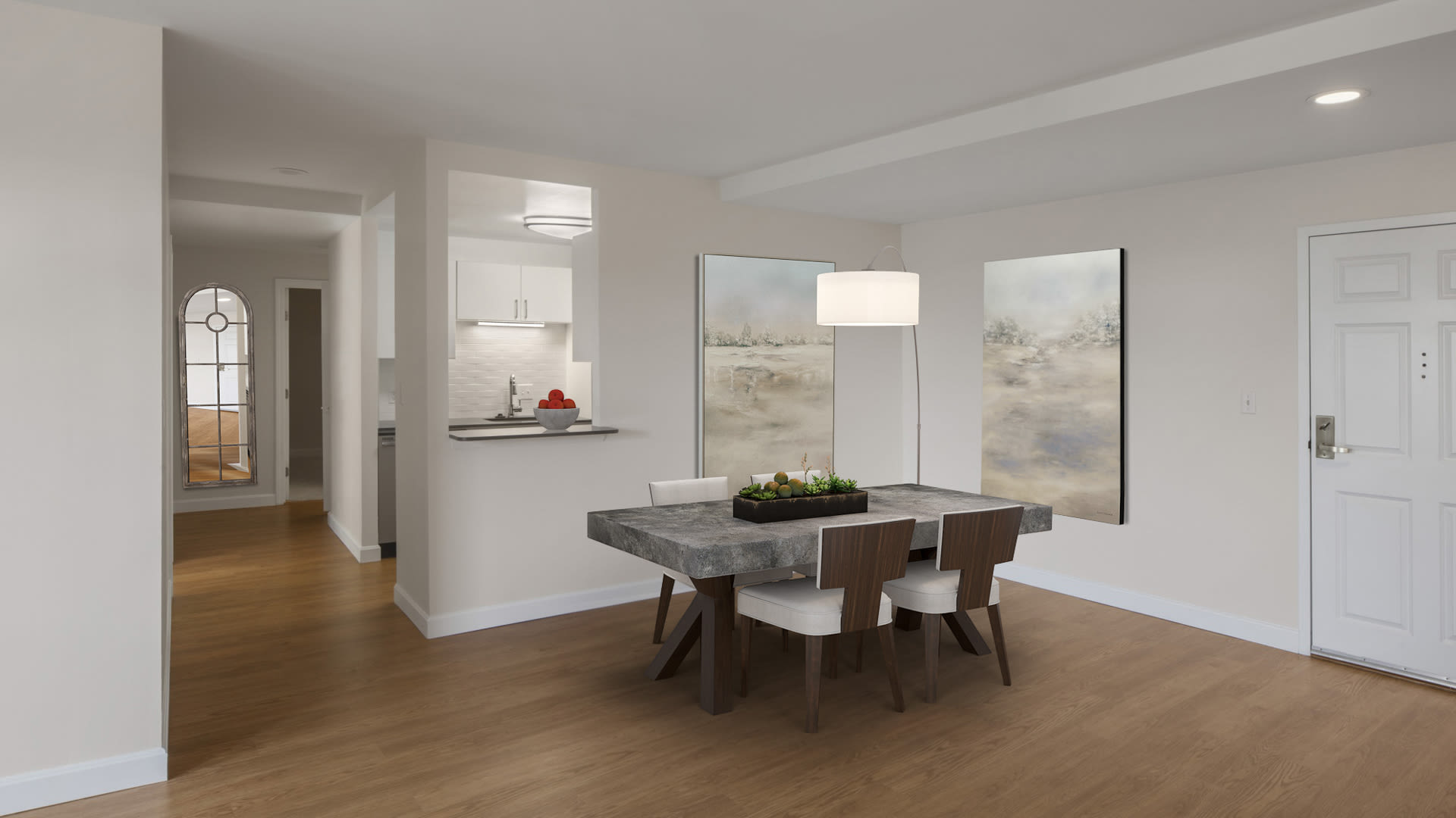 Cronin's Landing Apartments - Living Room with Hard Surface Flooring