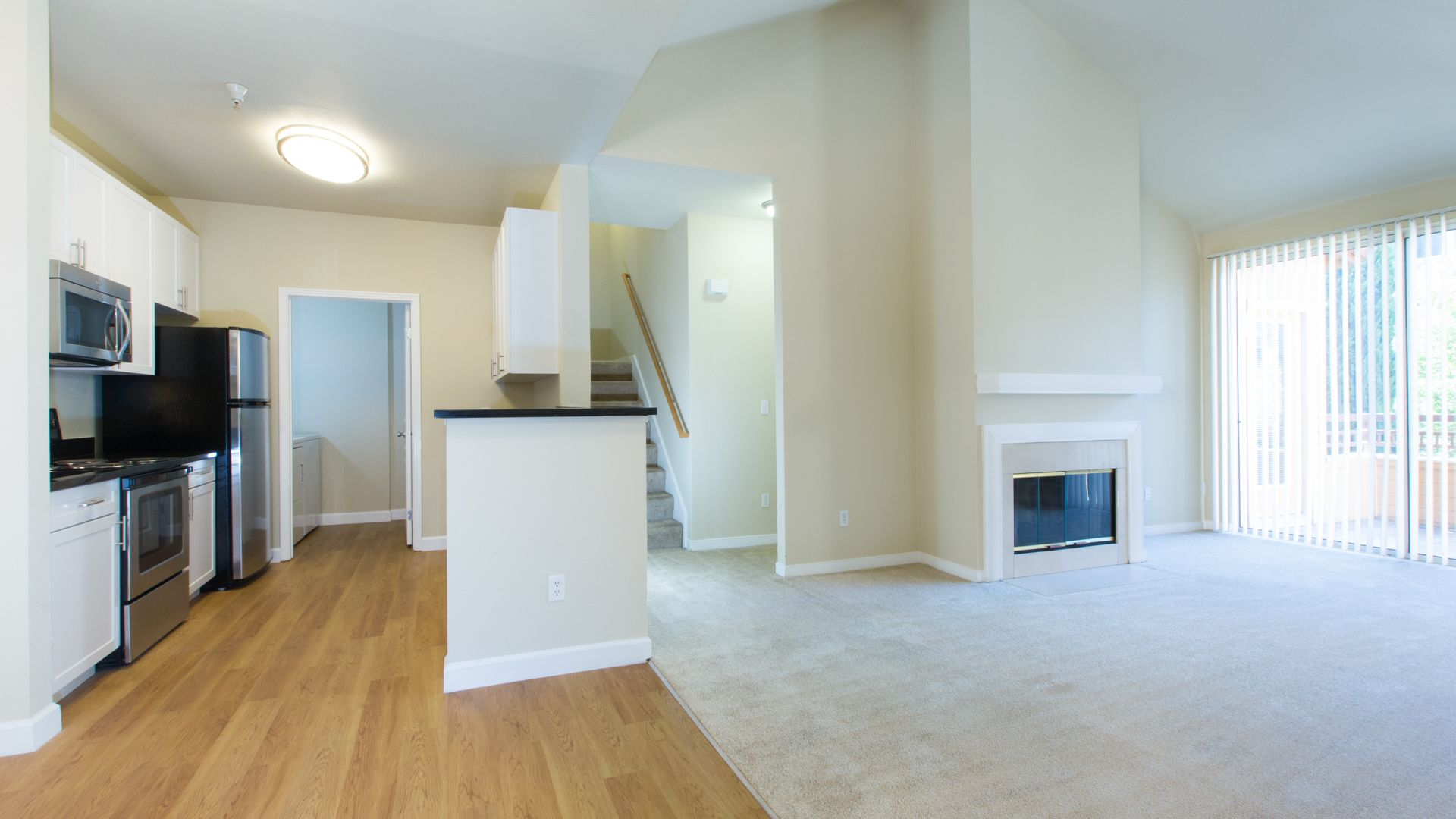 City Gate at Cupertino Apartments - Kitchen and Living Room