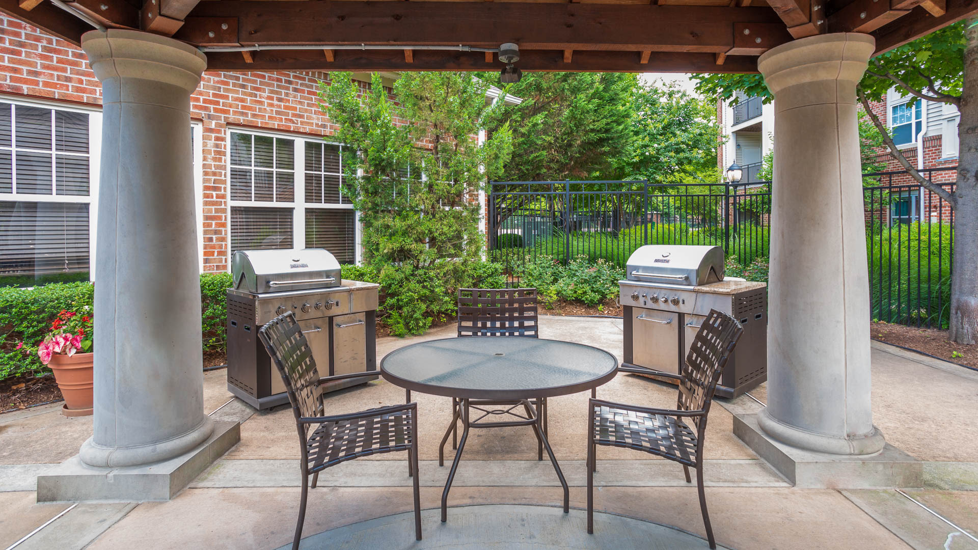 Fairchase Apartments - Patio and Grilling Area