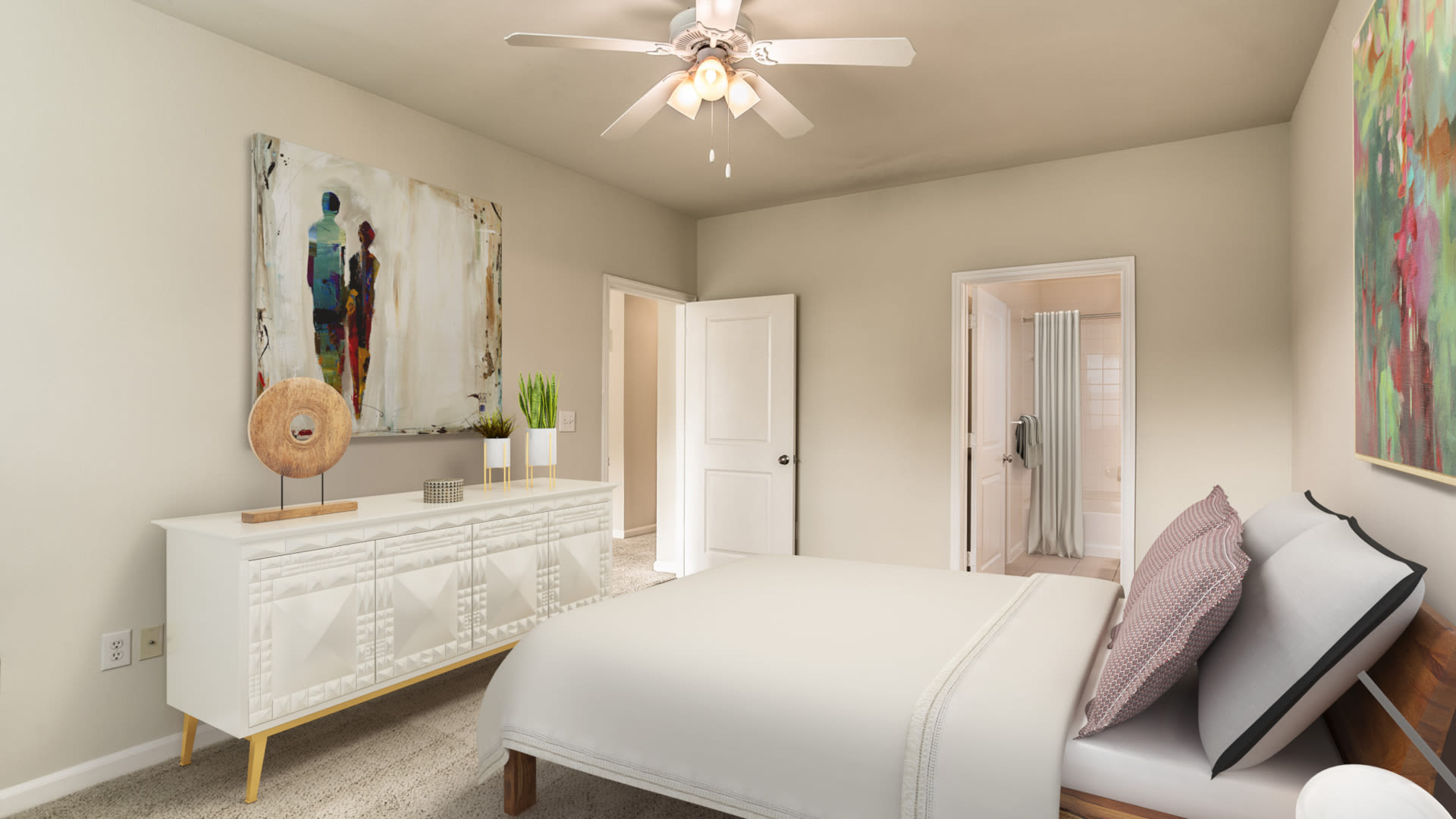 Fairchase Apartments - Carpeted Bedroom