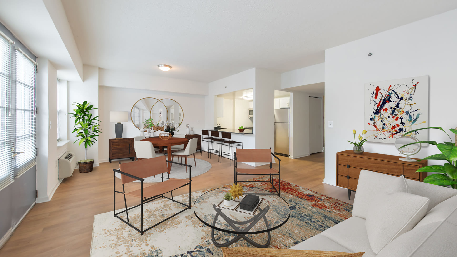 77 Park Avenue Apartments - Living and Dining Room with Hard Surface Flooring