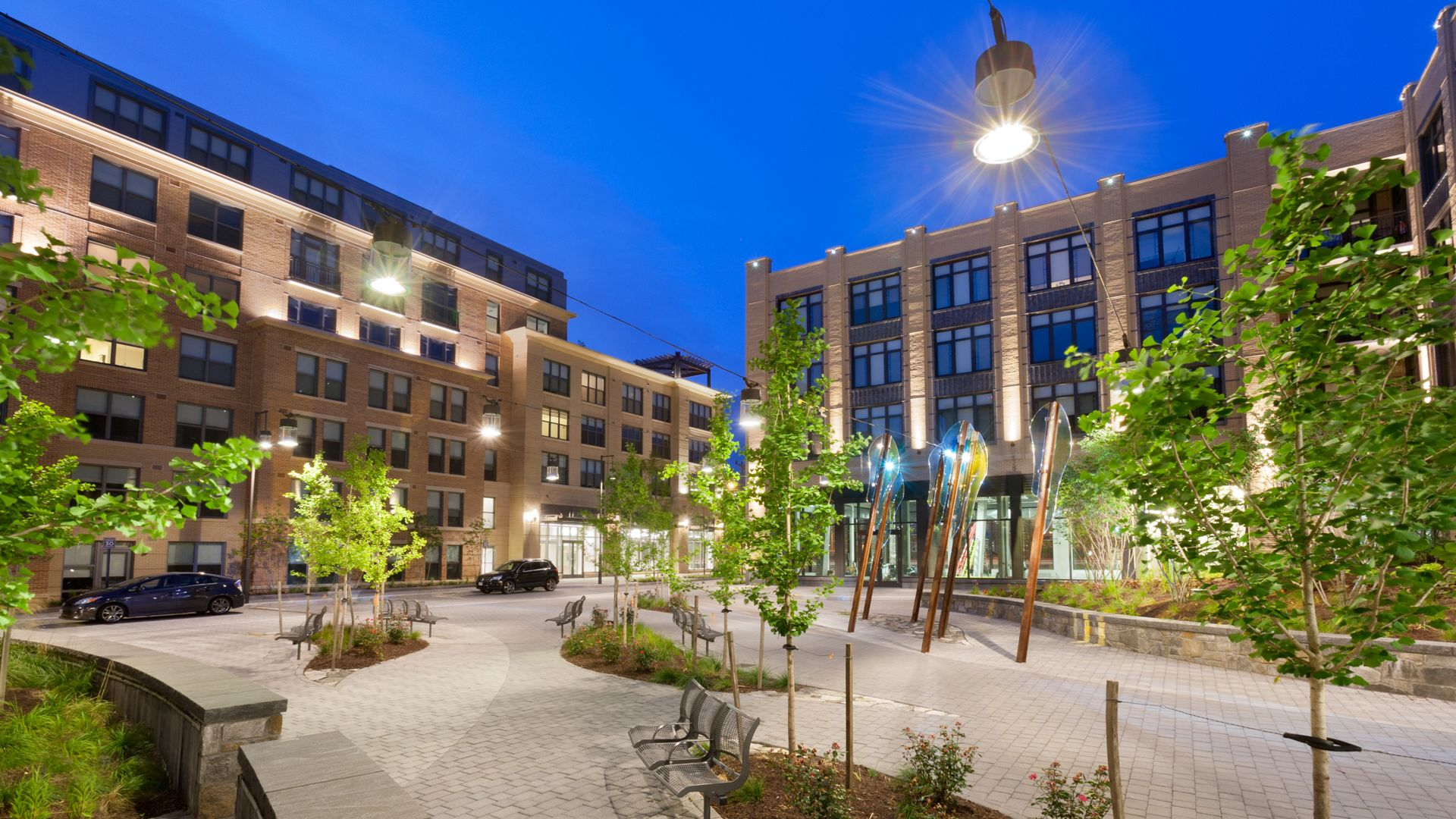 1111 Belle Pre Apartments - Courtyard