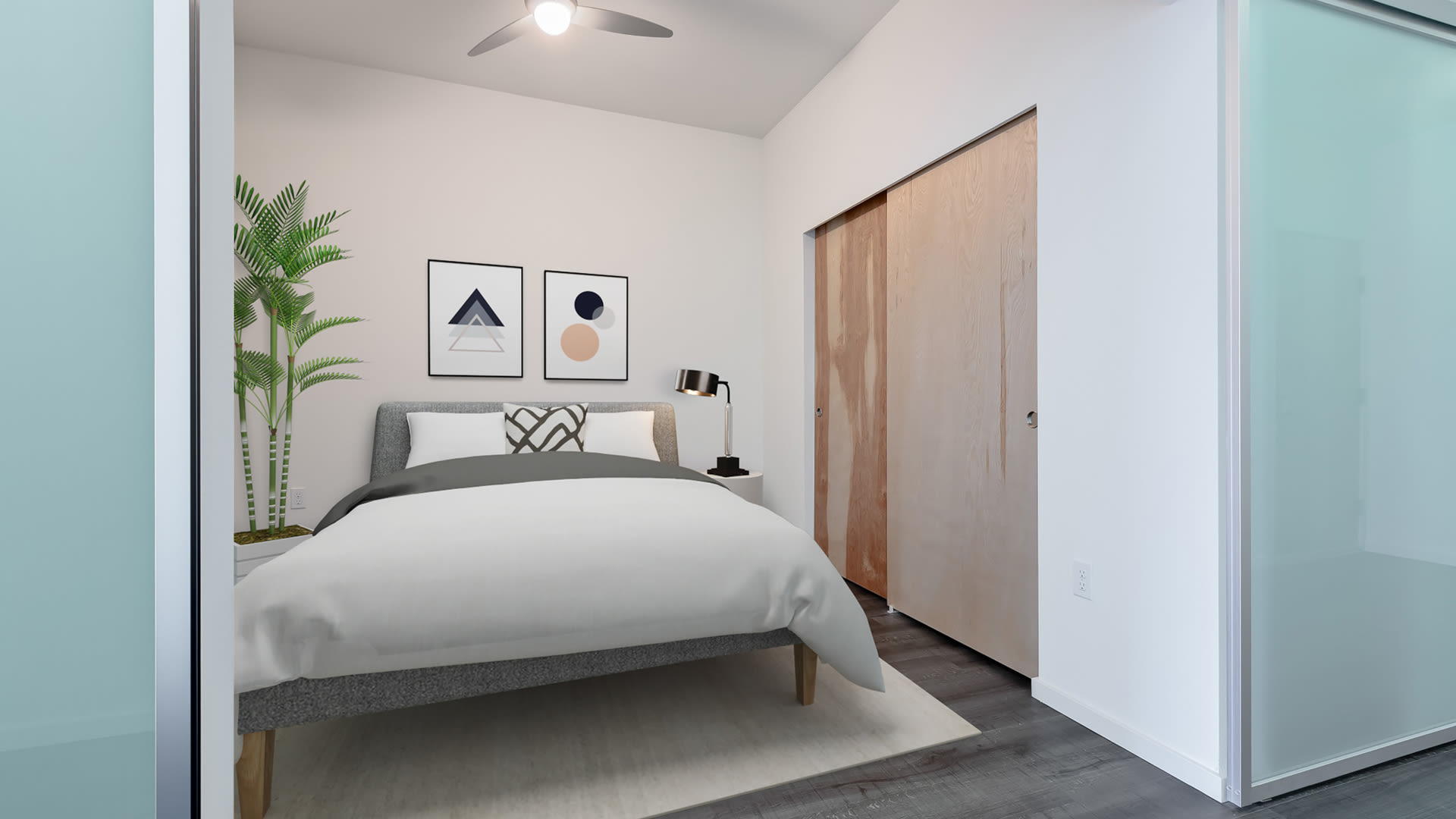 Three20 Apartments - Bedroom with Hard Surface Flooring