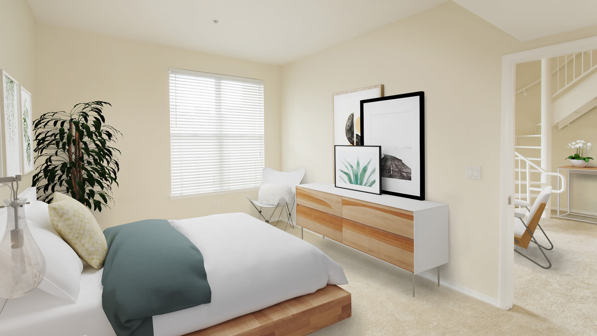 Pacific Place Apartments - Carpeted Bedroom