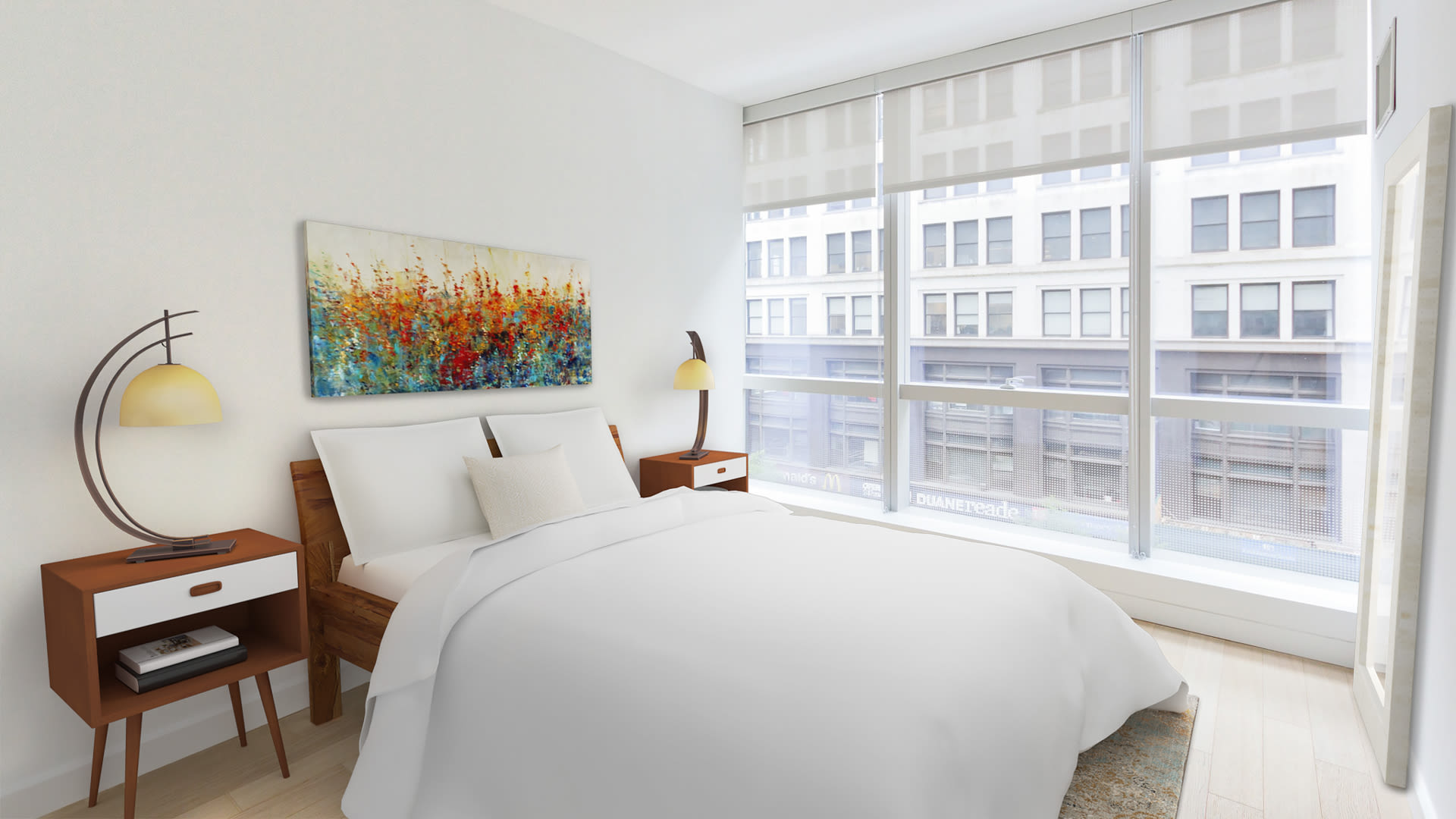 Prism at Park Avenue South Apartments - Bedroom with Floor-to-Ceiling Windows