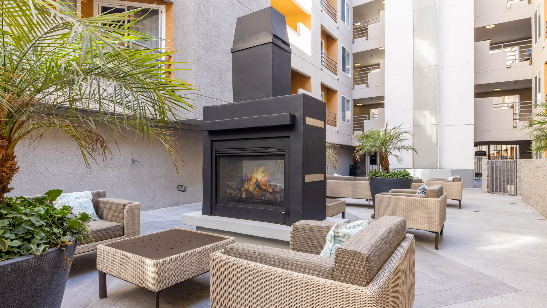 Vantage Hollywood Apartments - Courtyard