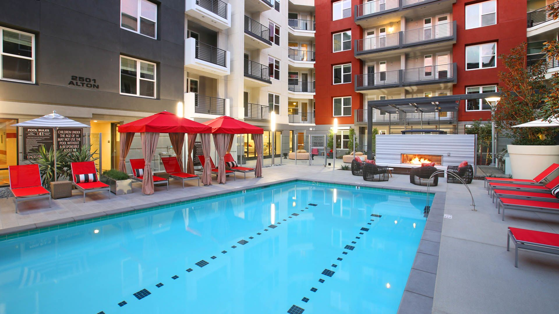 The alton apartments irvine business corridor 2501 alton parkway for Alton swimming pool opening times