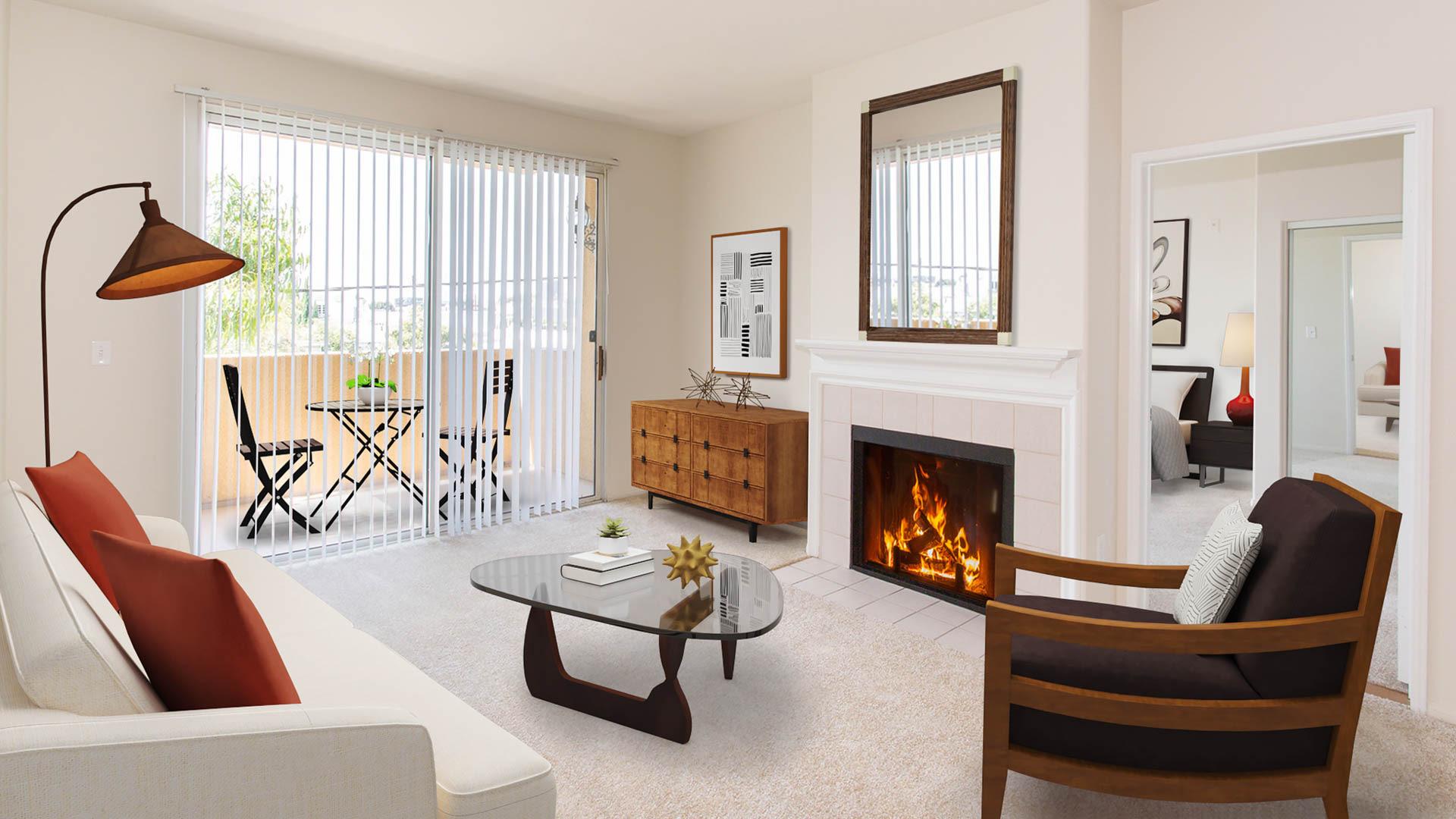 Westside on Barrington Apartments - Living Area