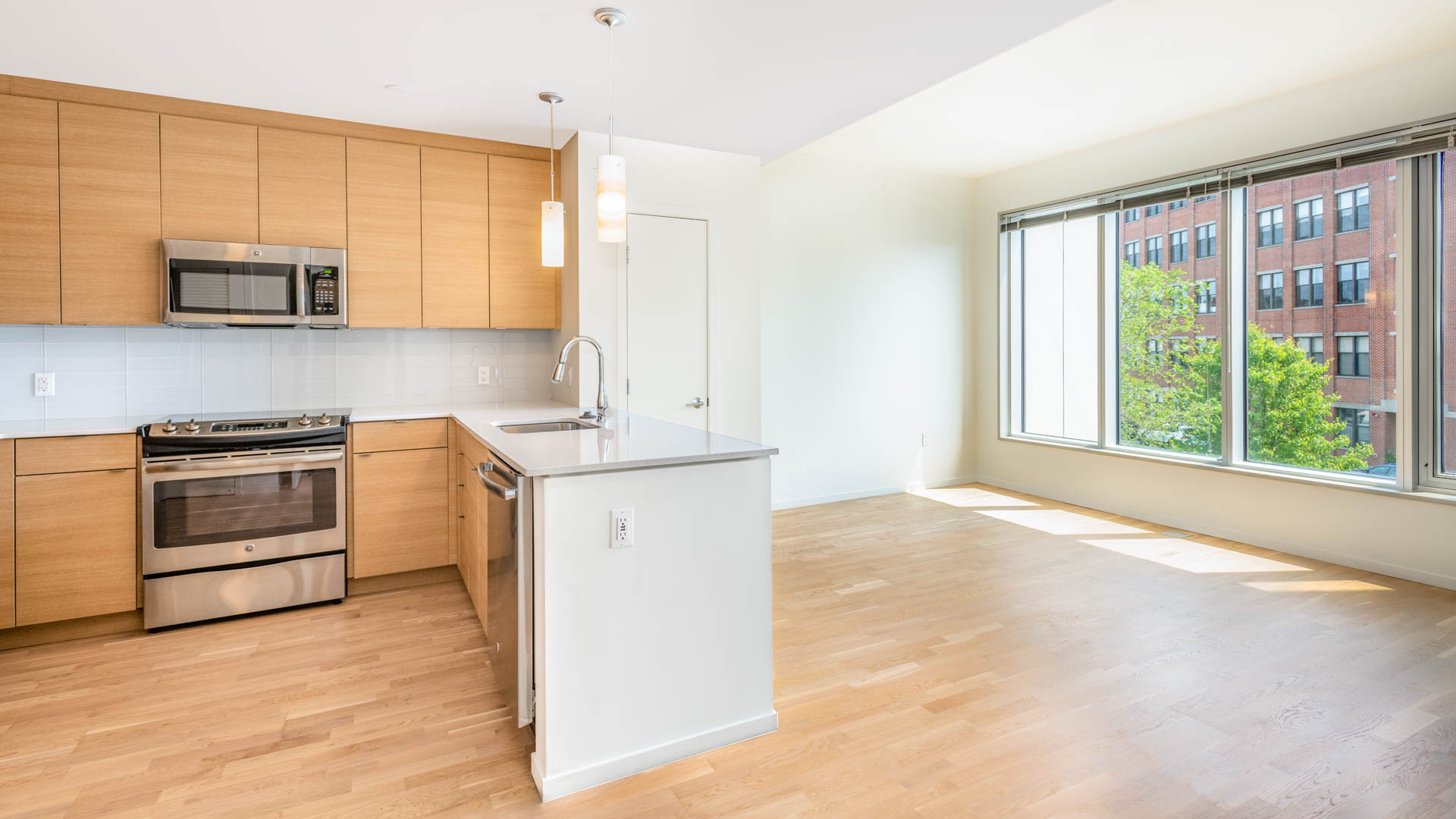Girard Apartments - Kitchen and Living Area