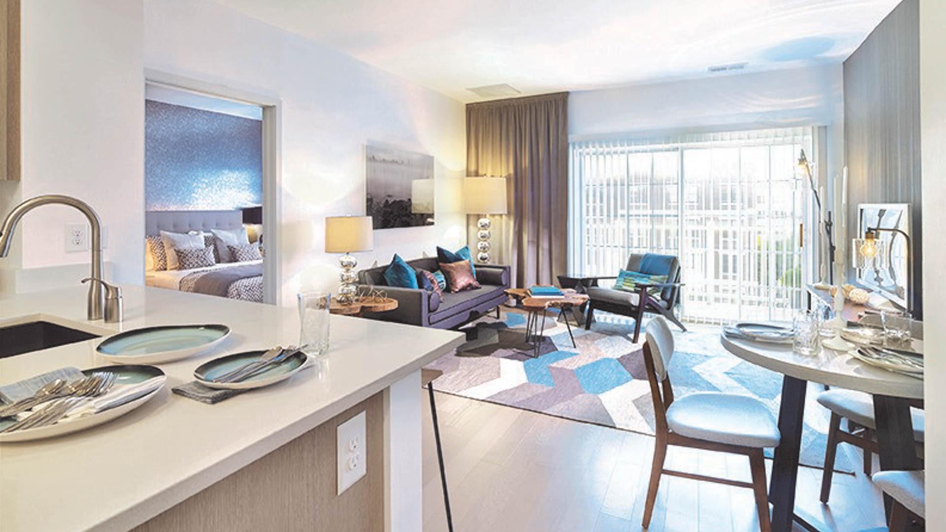 The Rivington Apartments - Living Area