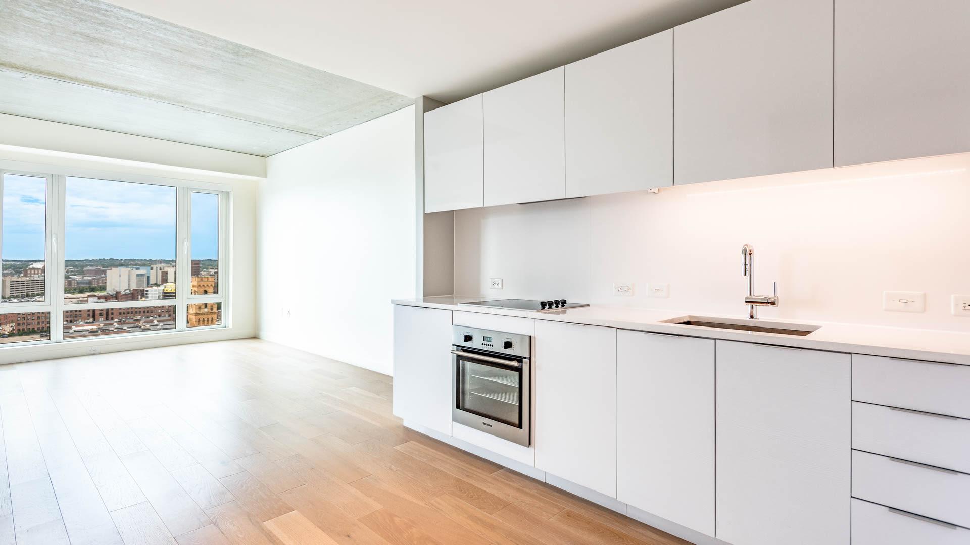 Troy Boston Apartments Kitchen