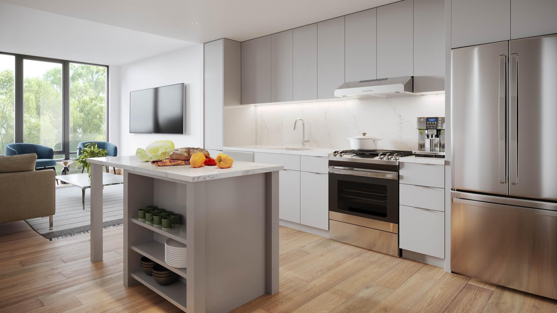 The Edge Apartments - Kitchen
