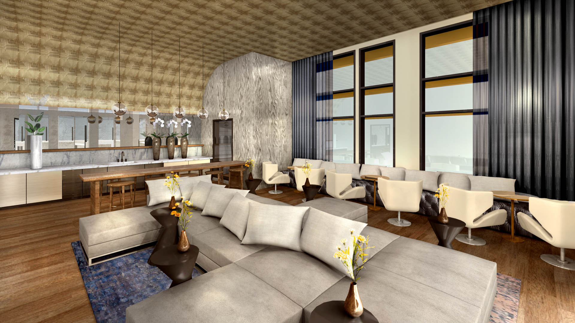 Aero Apartments - Resident Lounge