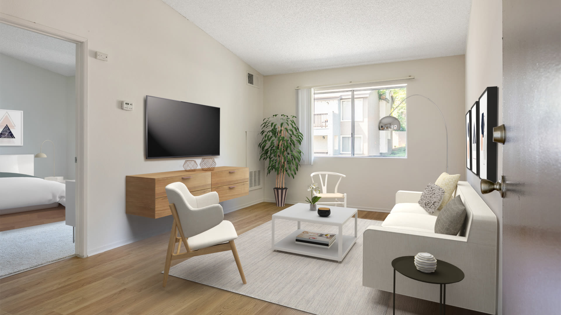 Hathaway Apartments - Living Room