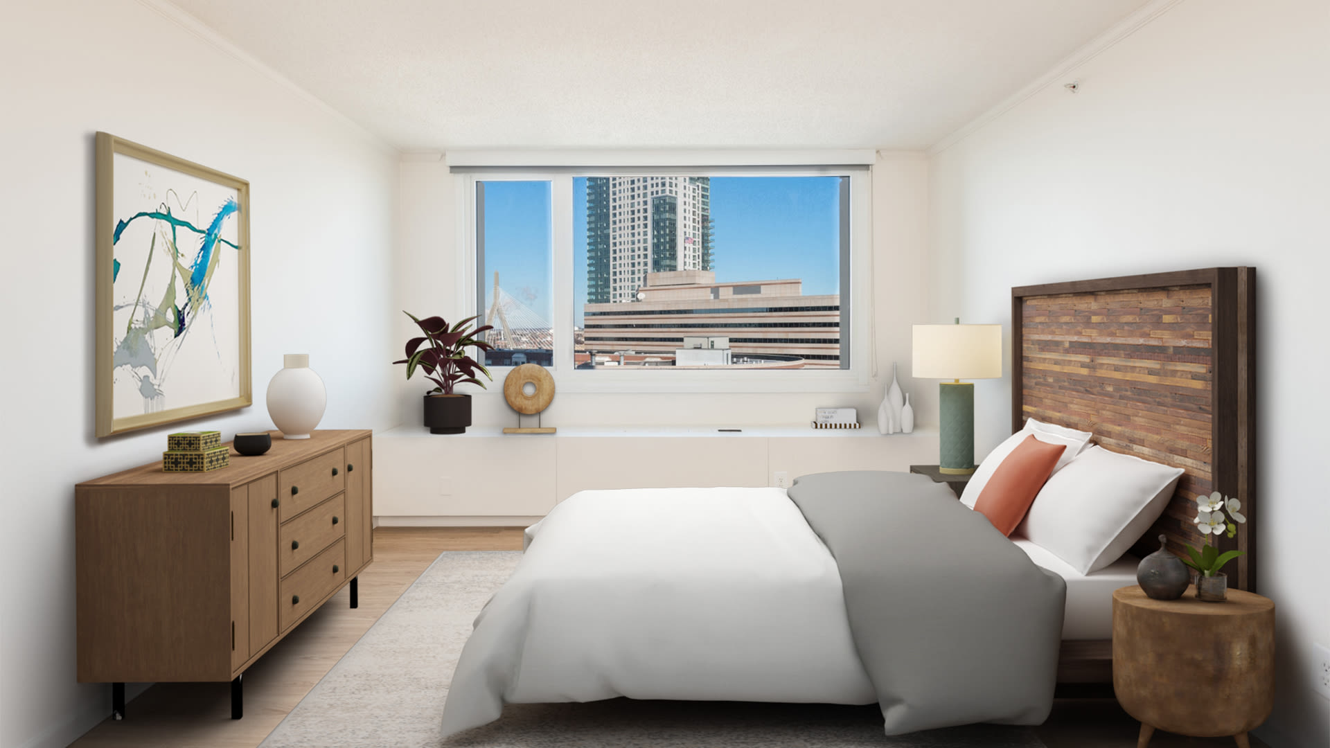 The Towers at Longfellow Apartments - Bedroom with Hard Surface Flooring