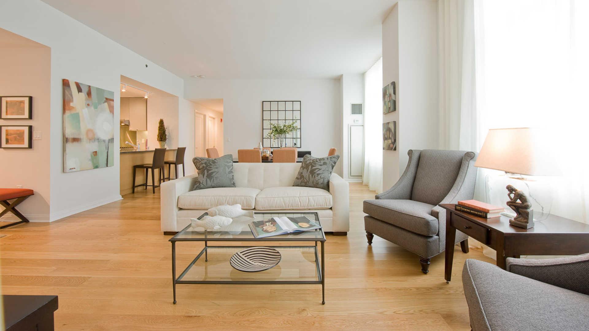 Third square apartments living room