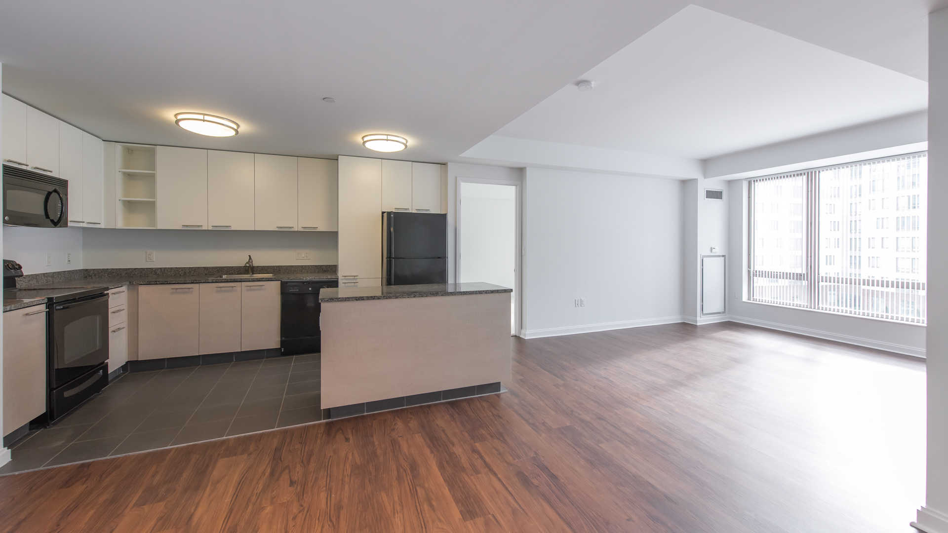 Third square apartments kitchen and dining area