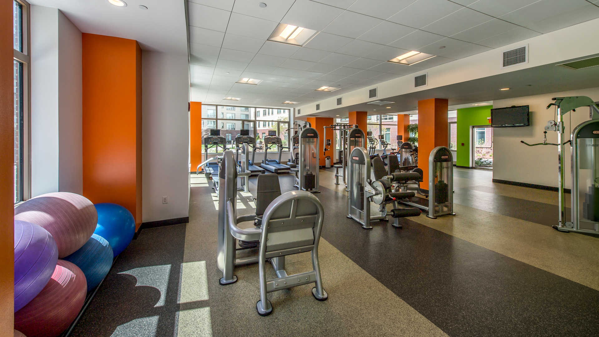 Third square apartments fitness center