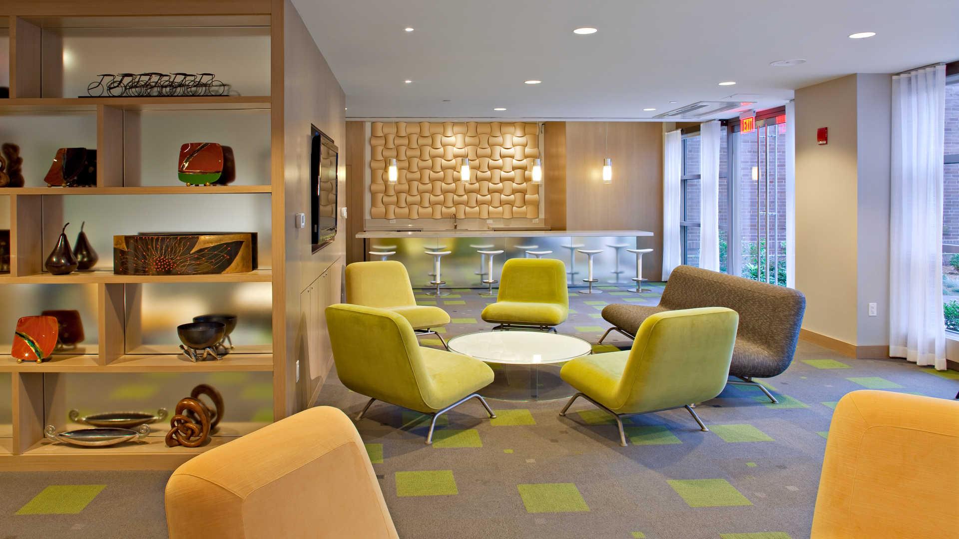 Third square apartments lounge