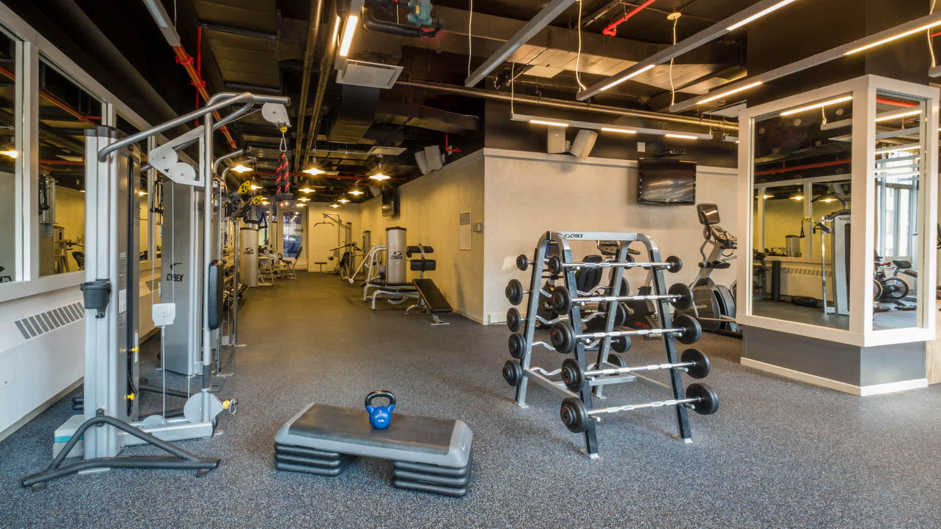 The brooklyner apartments fitness center