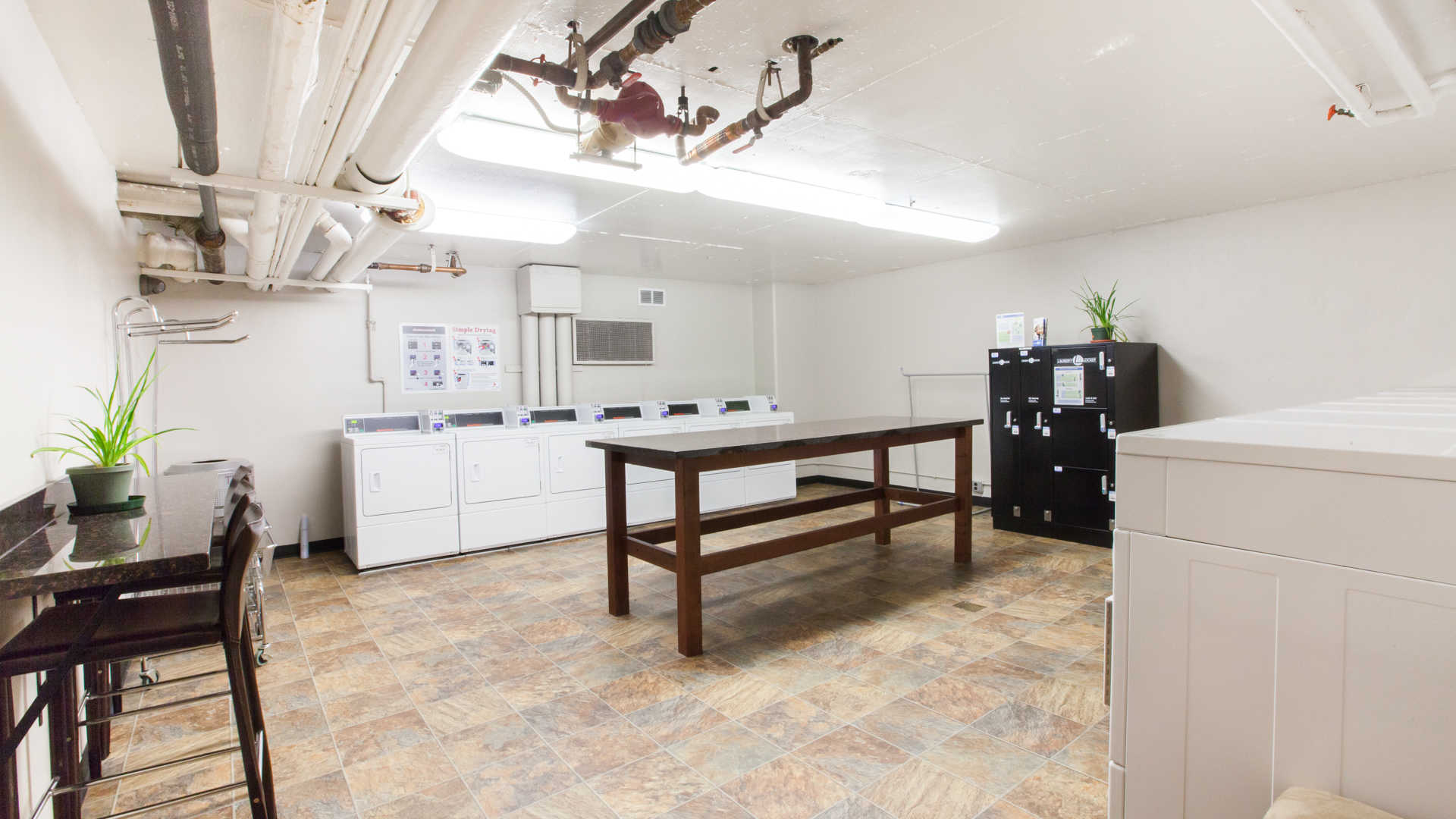 The terraces apartments laundry room