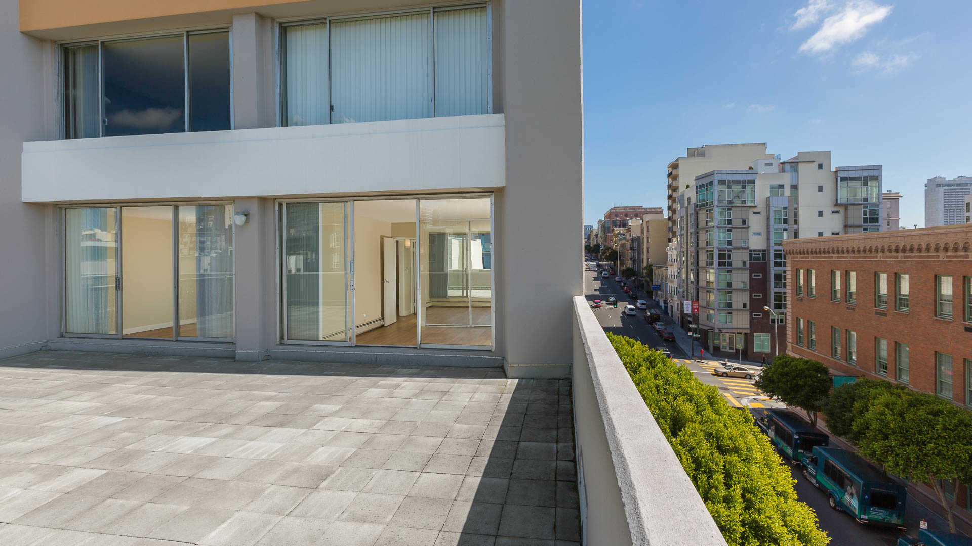 The terraces apartments outdoor terrace
