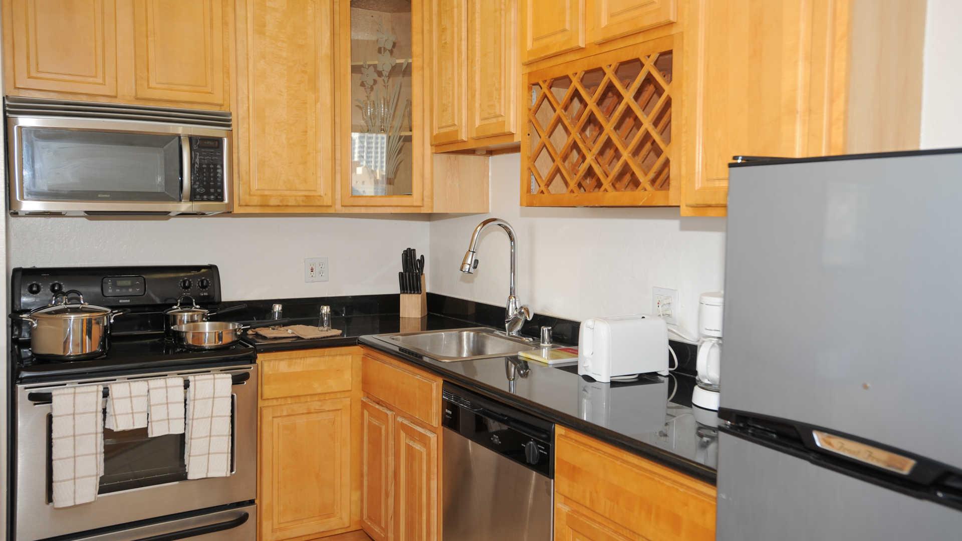 The terraces apartments kitchen