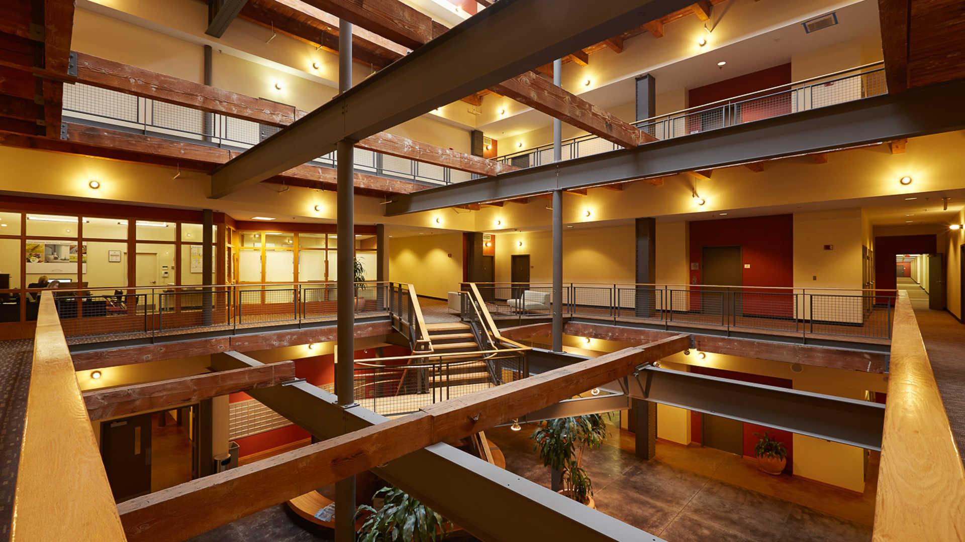Lofts at kendall square apartments lobby