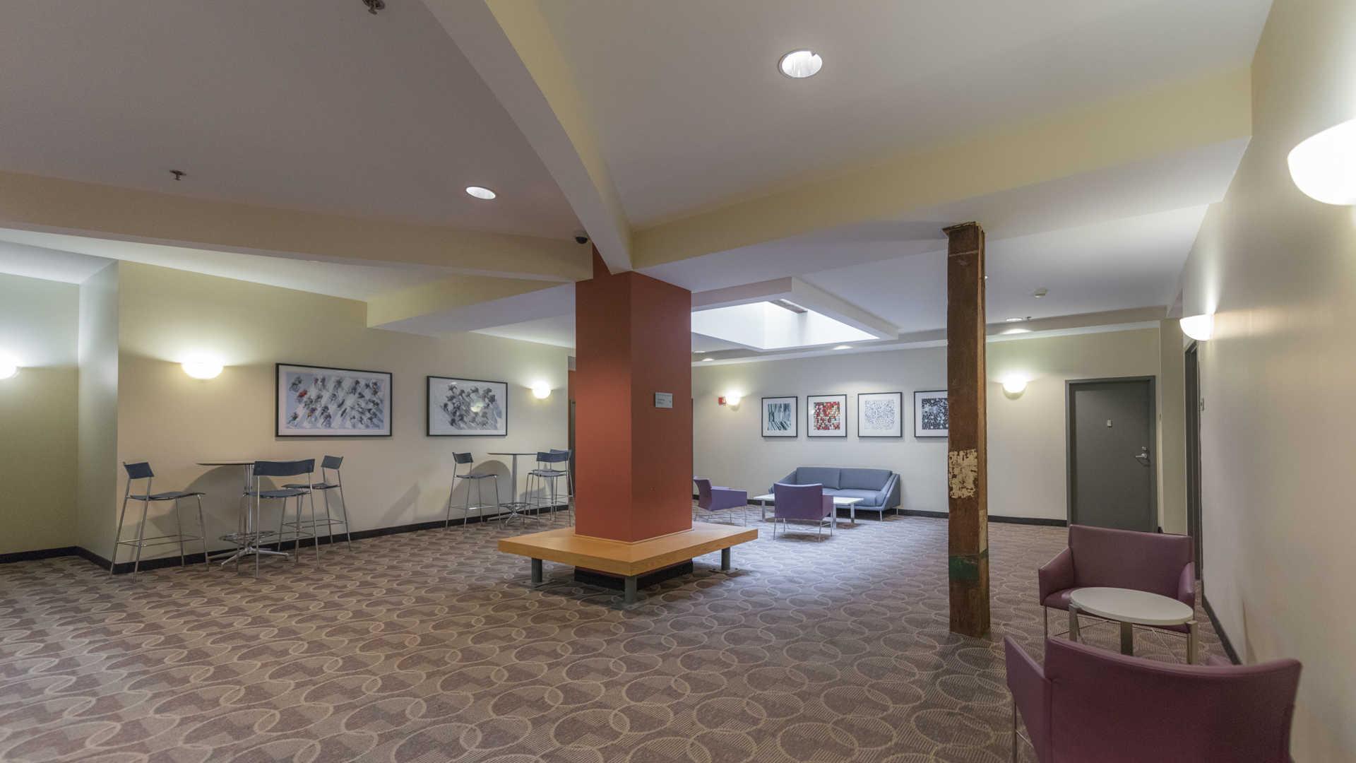 Lofts at kendall square apartments lounge