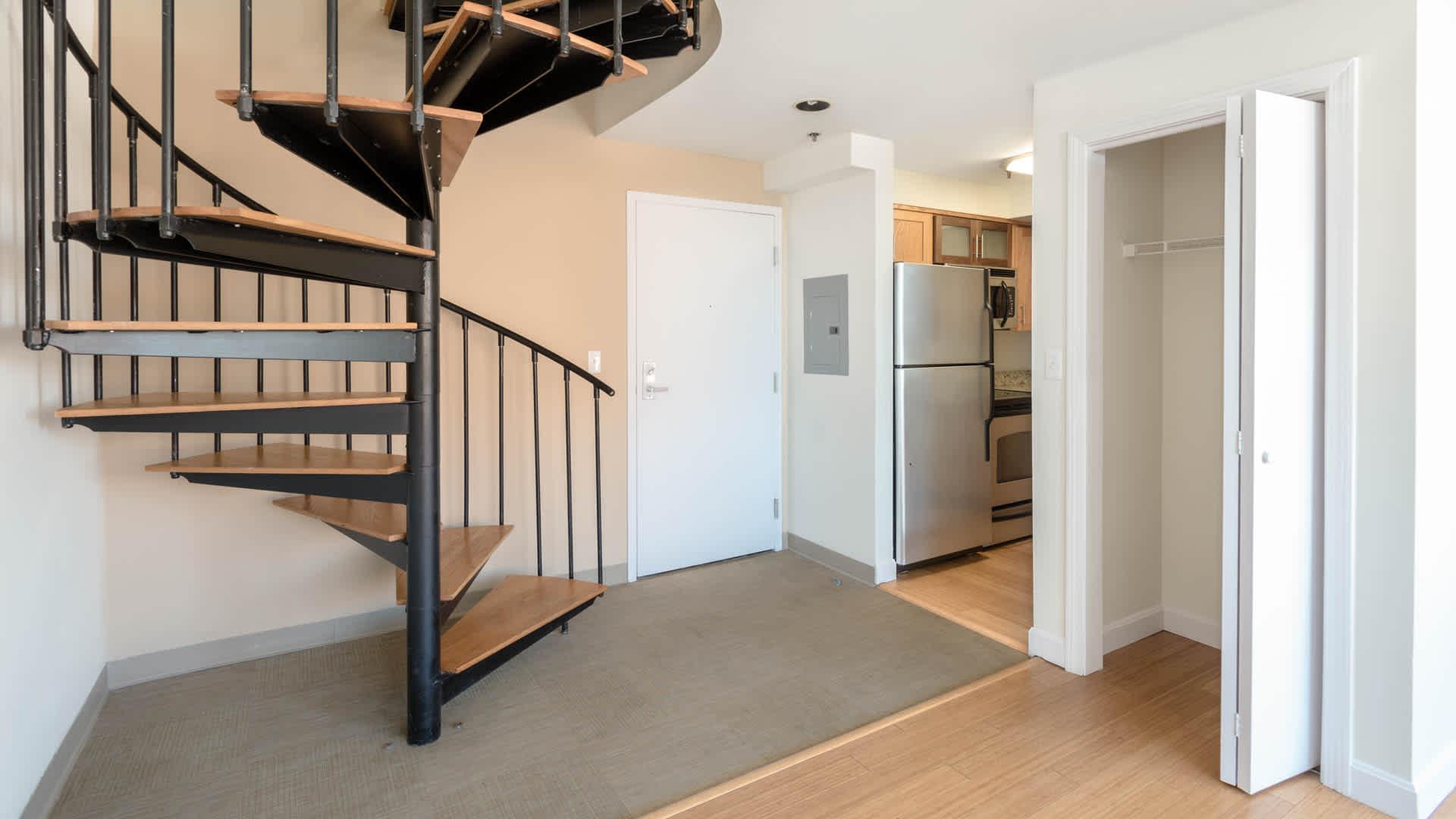 Lofts at kendall square apartments entrance