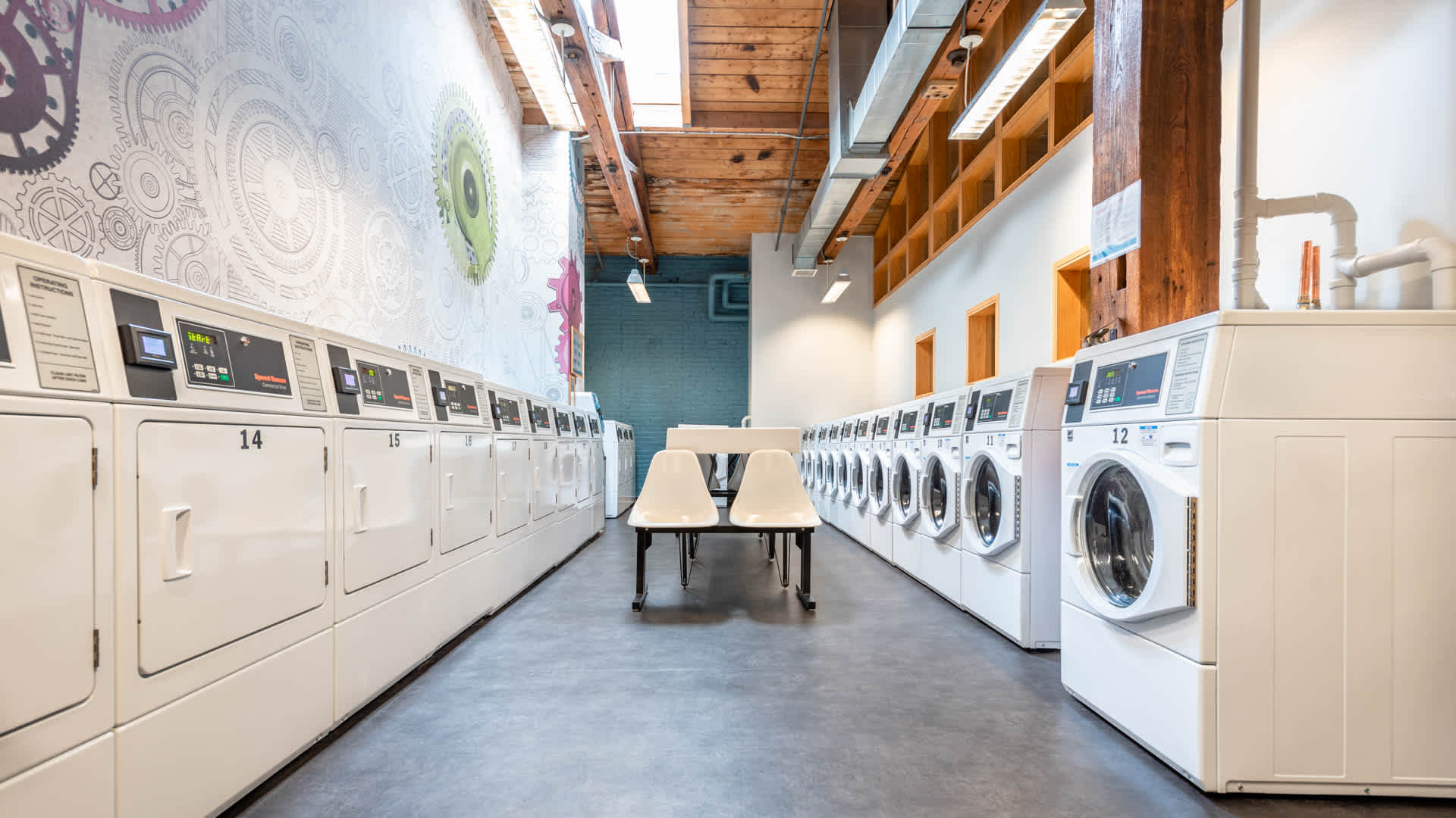 Lofts at kendall square apartments laundry room