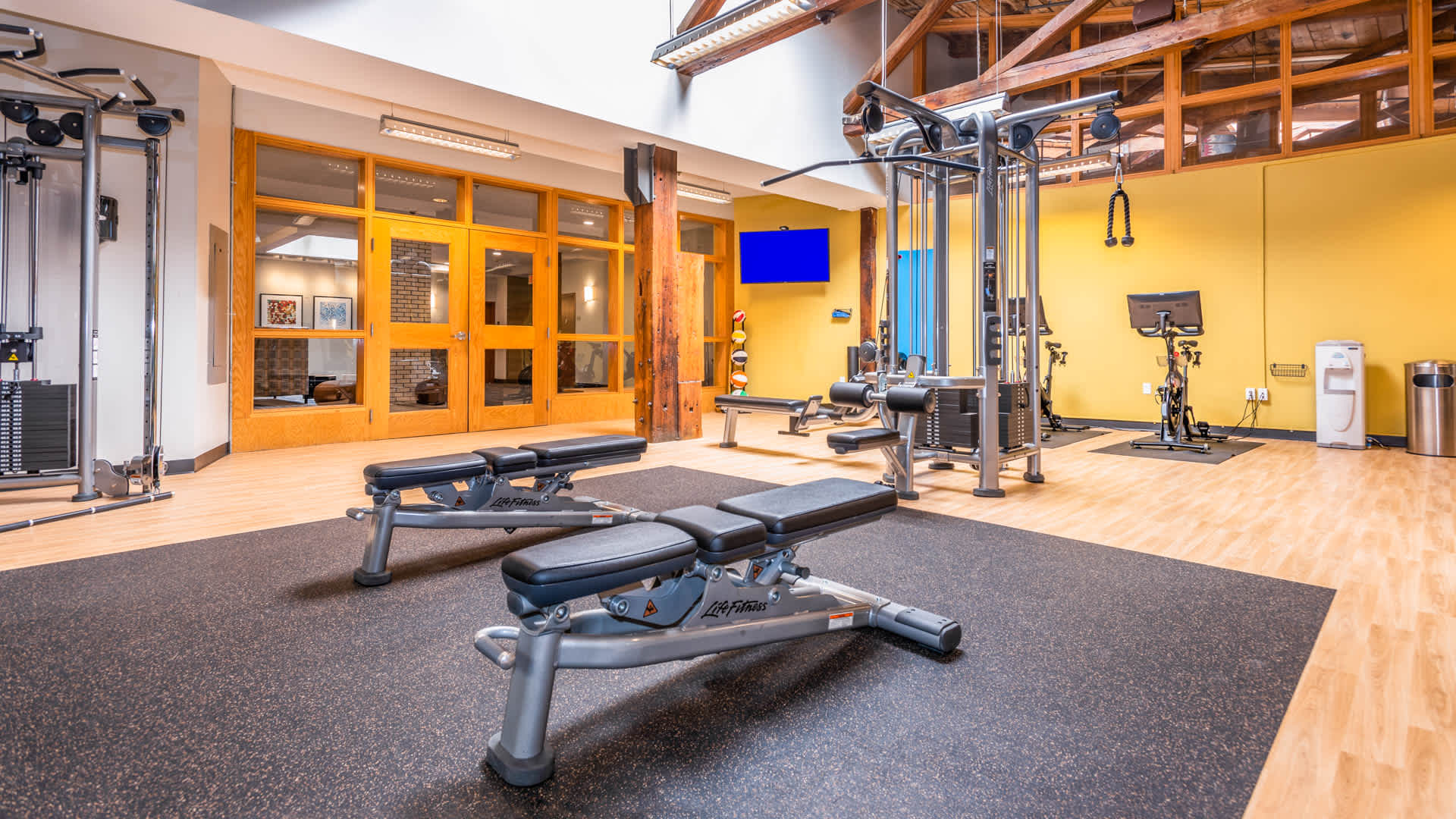 Lofts at kendall square apartments fitness center