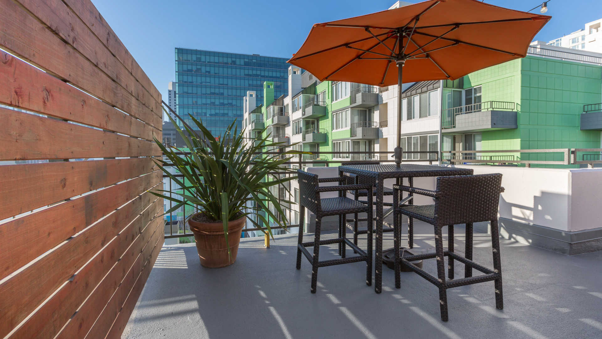 Soma square apartments rooftop deck